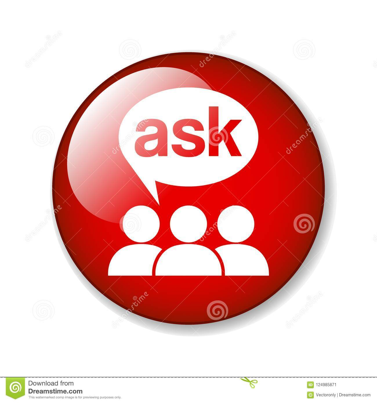 Ask support icon