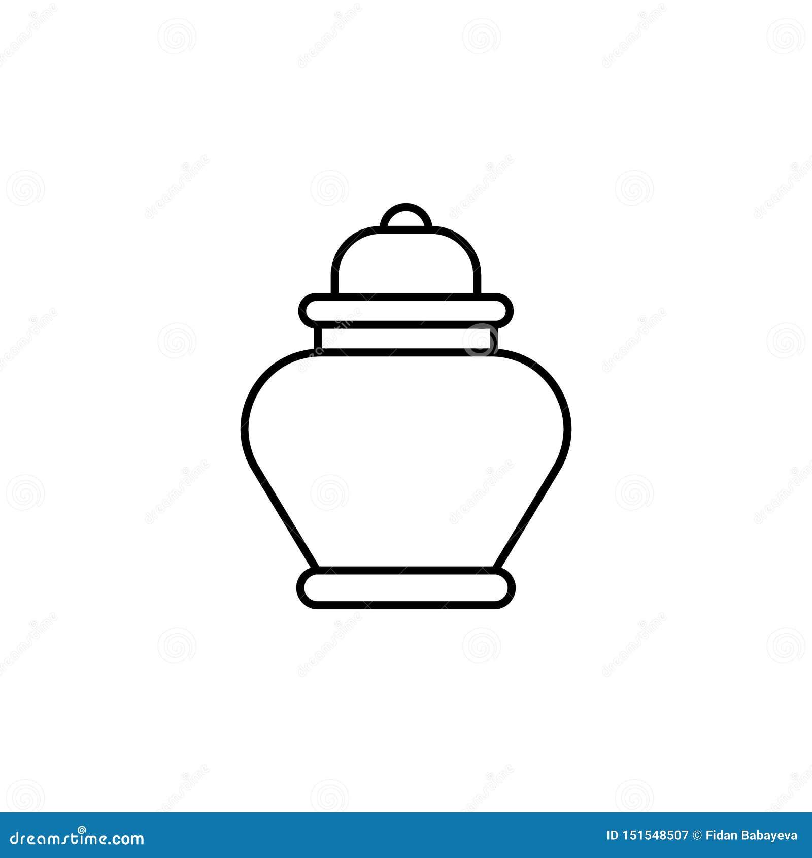 Aska dödöversiktssymbol detaljerad uppsättning av dödillustrationsymboler Kan anv?ndas f?r reng?ringsduken, logoen, den mobila ap