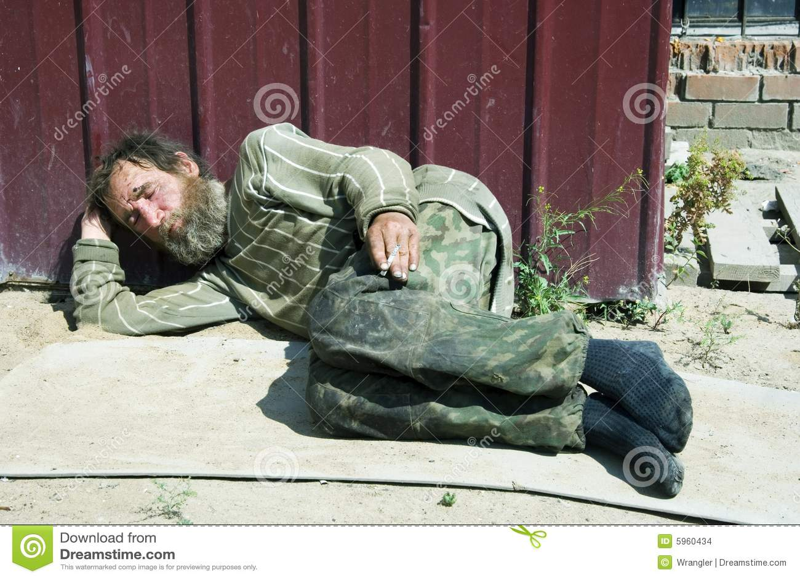 Sad Homeless Old Man Stock Images - Image: 5960434