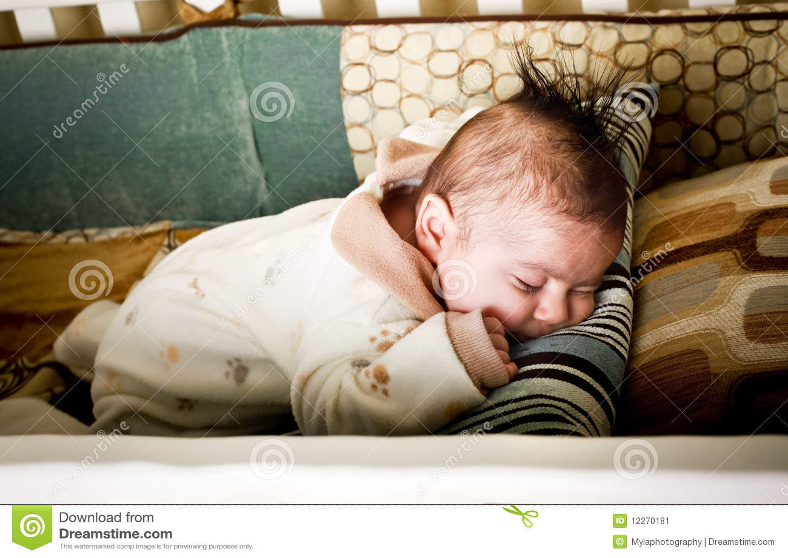 Asleep On Tummy Stock Image Image Of Sleep Holding