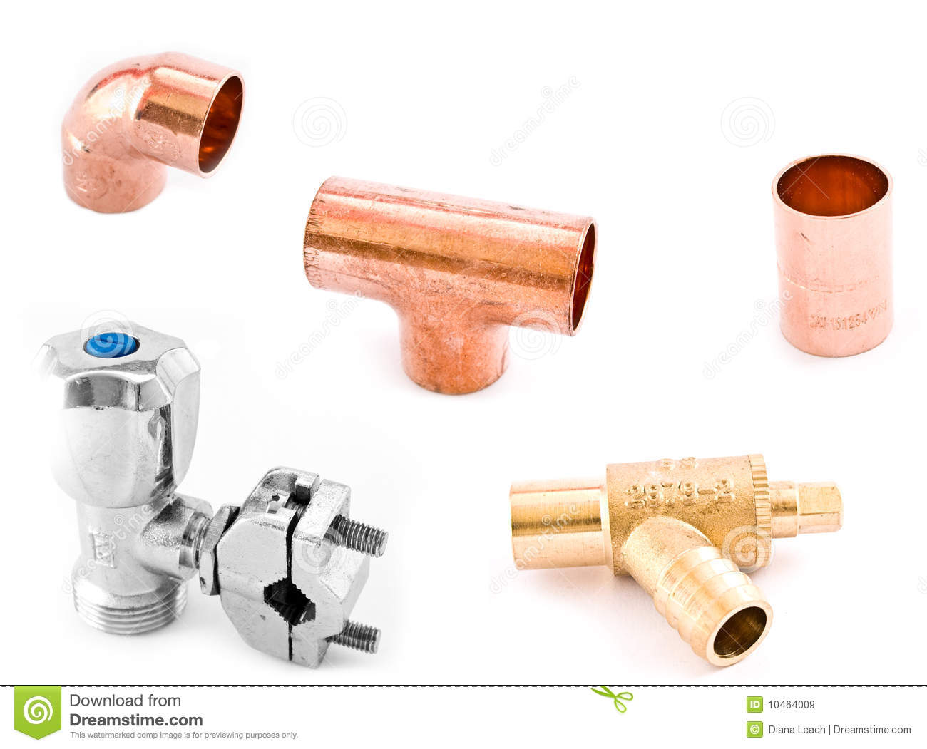 Asorted Plumbing Fittings Royalty Free Stock Images