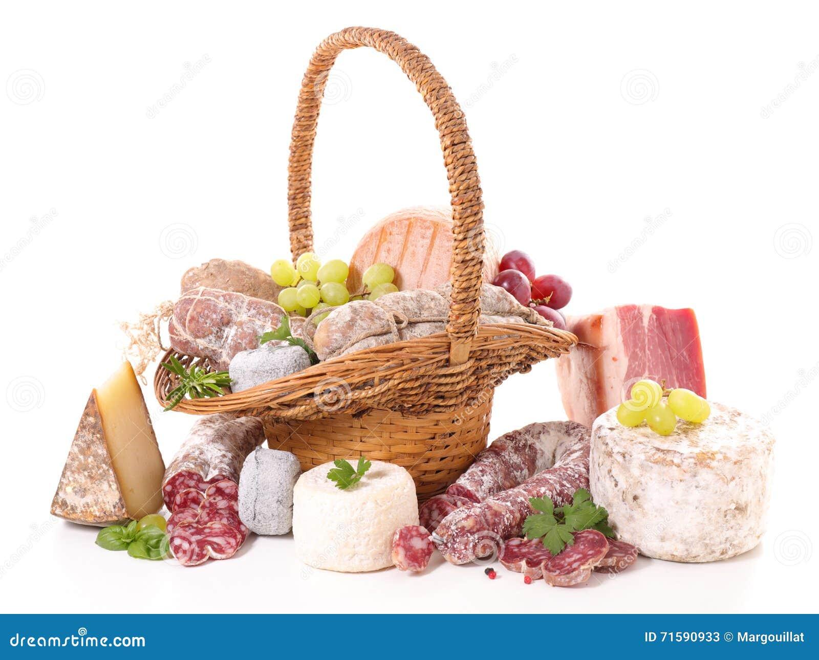 Asortowany mięso i ser