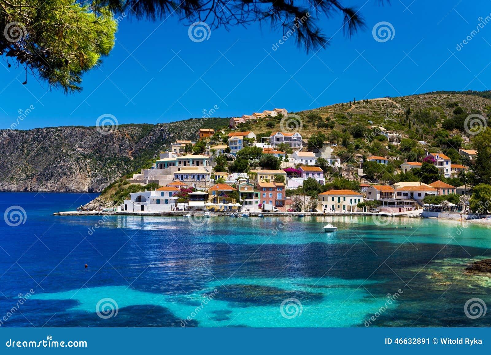 Asos Village Cephalonia Stock Photo Image 46632891