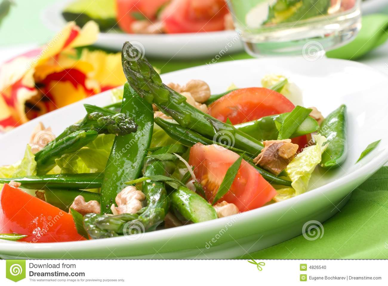 Asparagus Salad Stock Photo - Image: 4826540