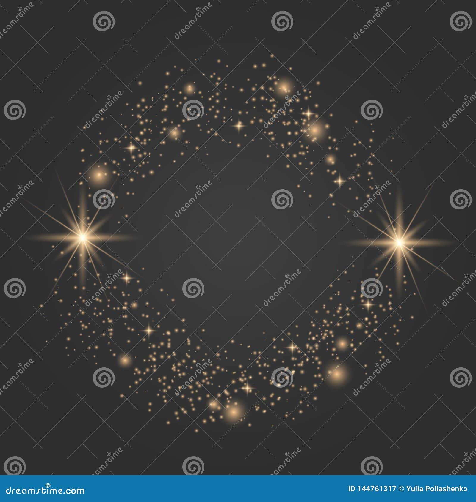 Vector sparkles on transparent background.
