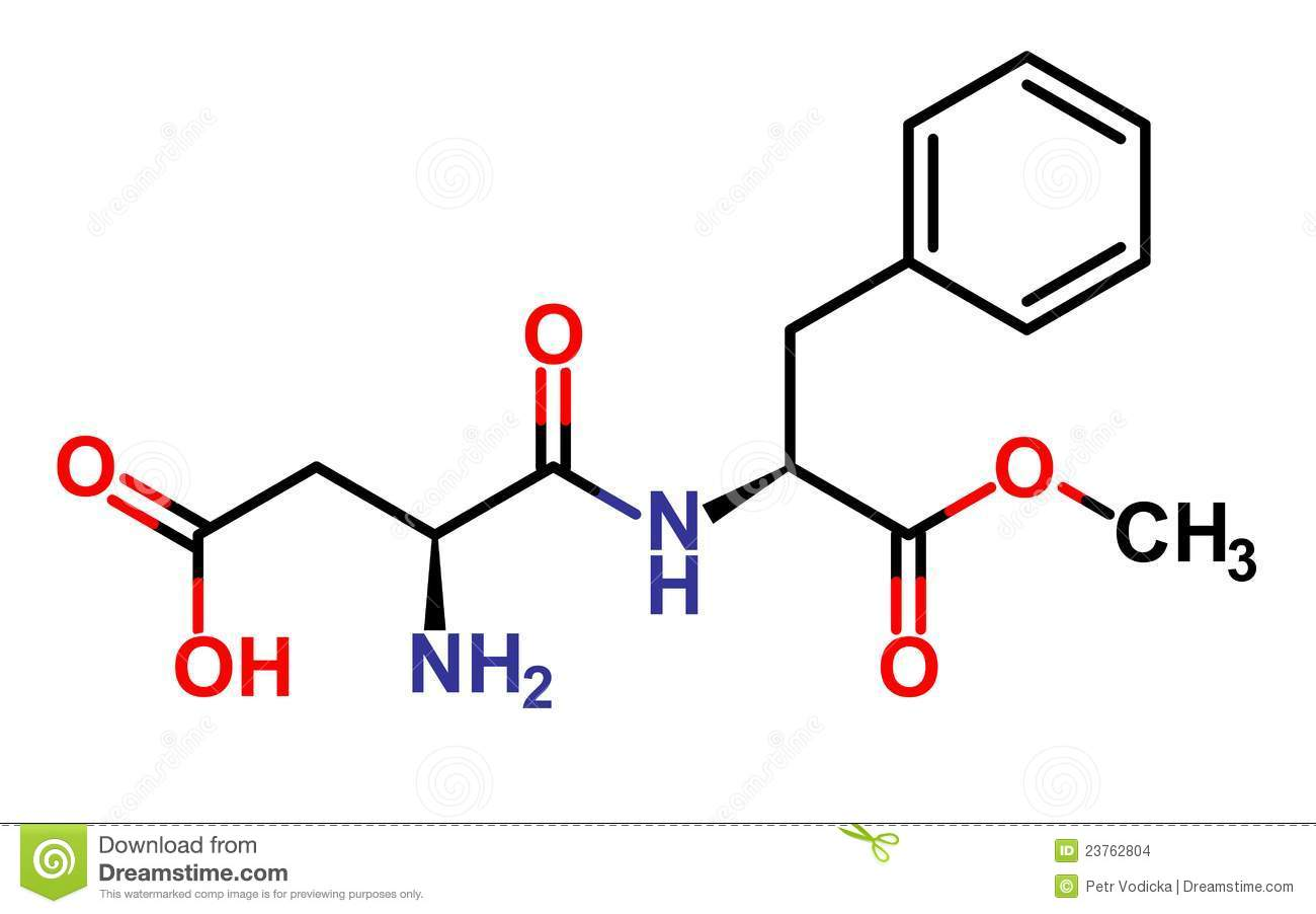 Aspartame Structure Stock Images - Image: 23762804