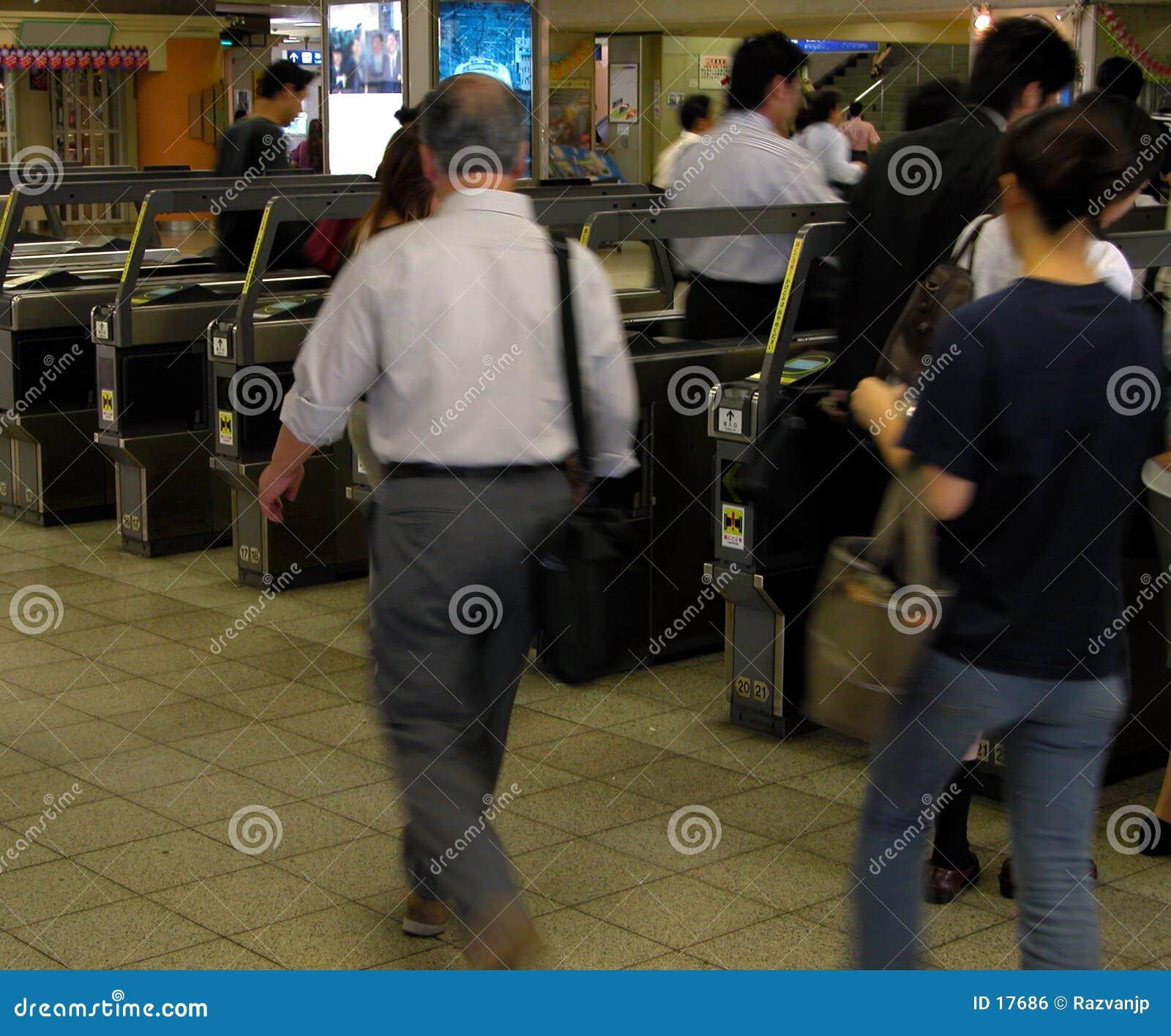 Aspect de gare-matin de train