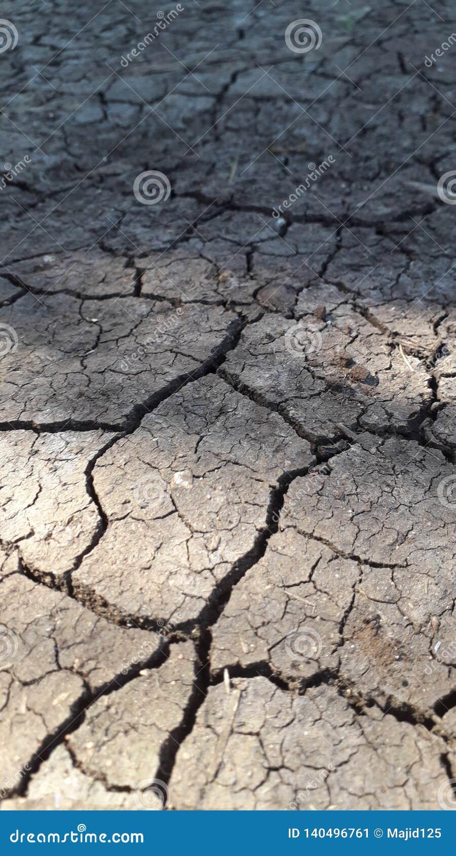Aspect de sécheresse sur terre