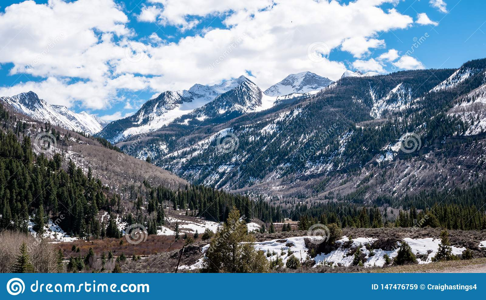 Christmas In Colorado Mountains.Mountains And Forest Scenary Surrounding Aspen Colorado Part
