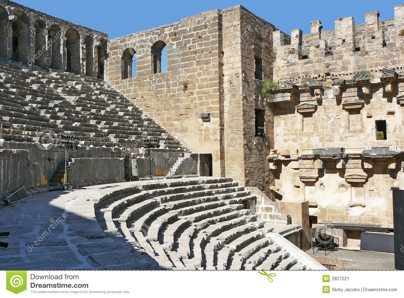 Download Aspendos Arena stock image. Image of ruins, sight, greek - 2827521