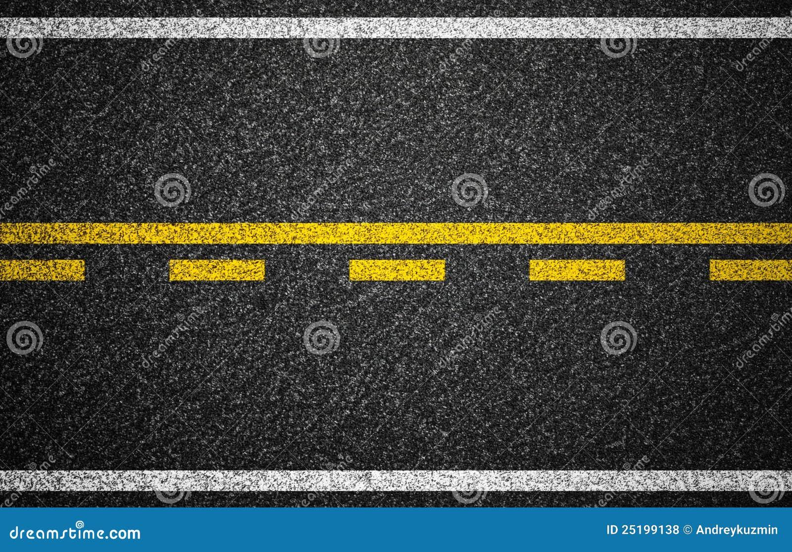 Asphalt Highway With R...