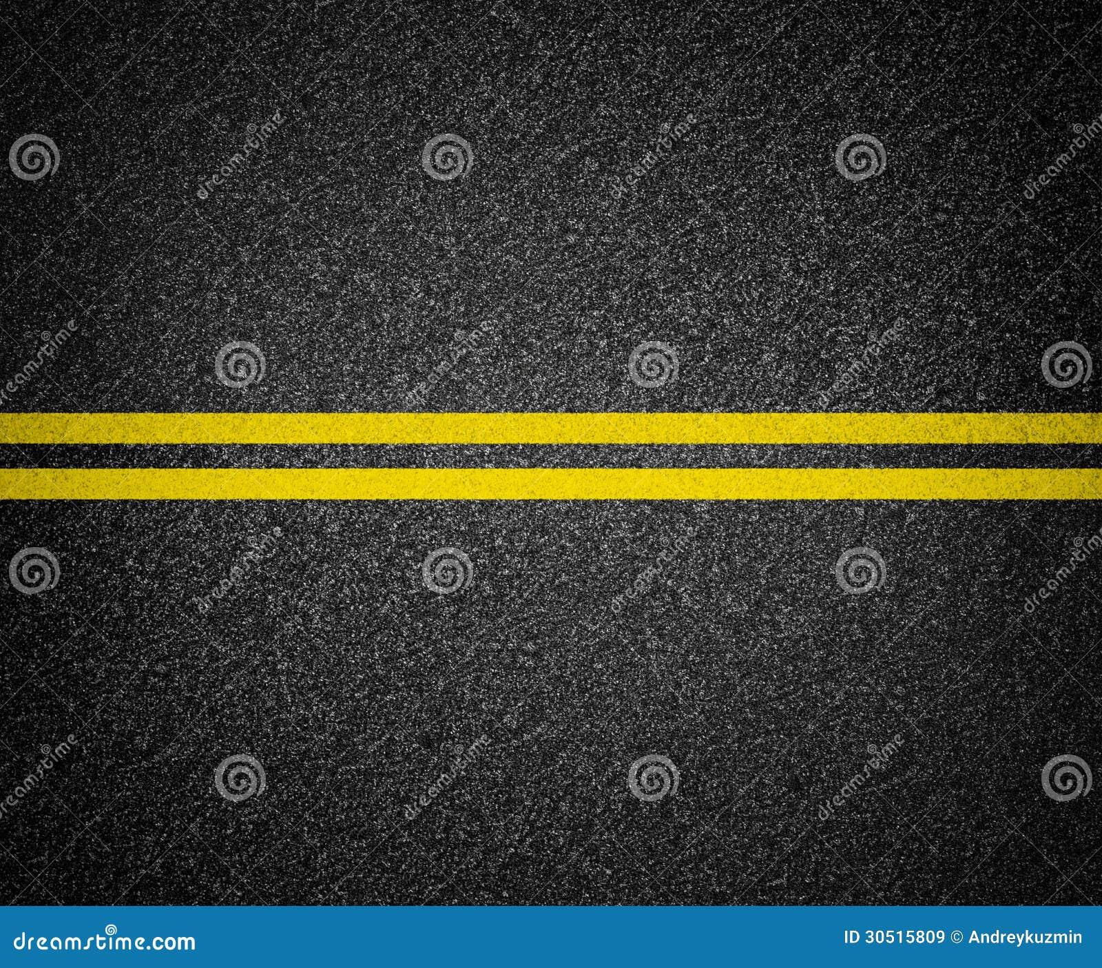 Asphalt road marking top view