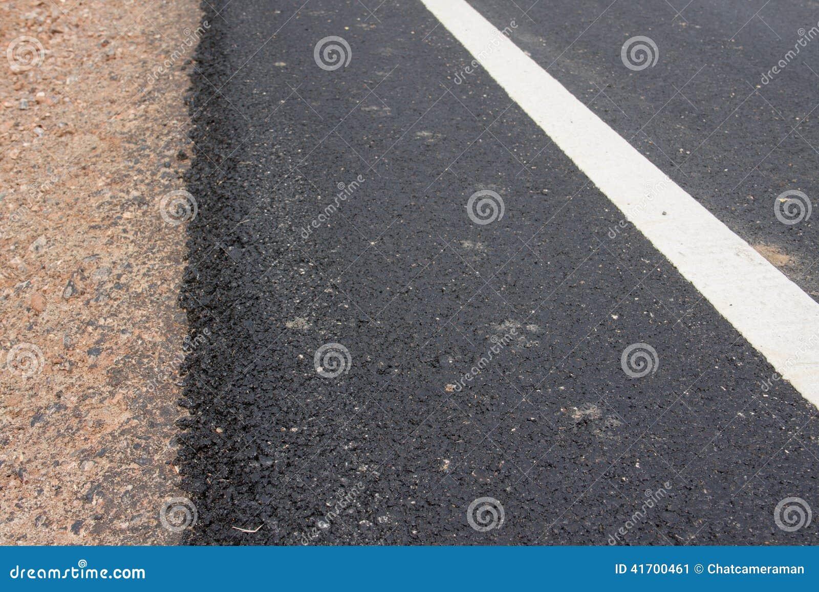 Asphalt roadside stock photo image 41700461 for Soil material