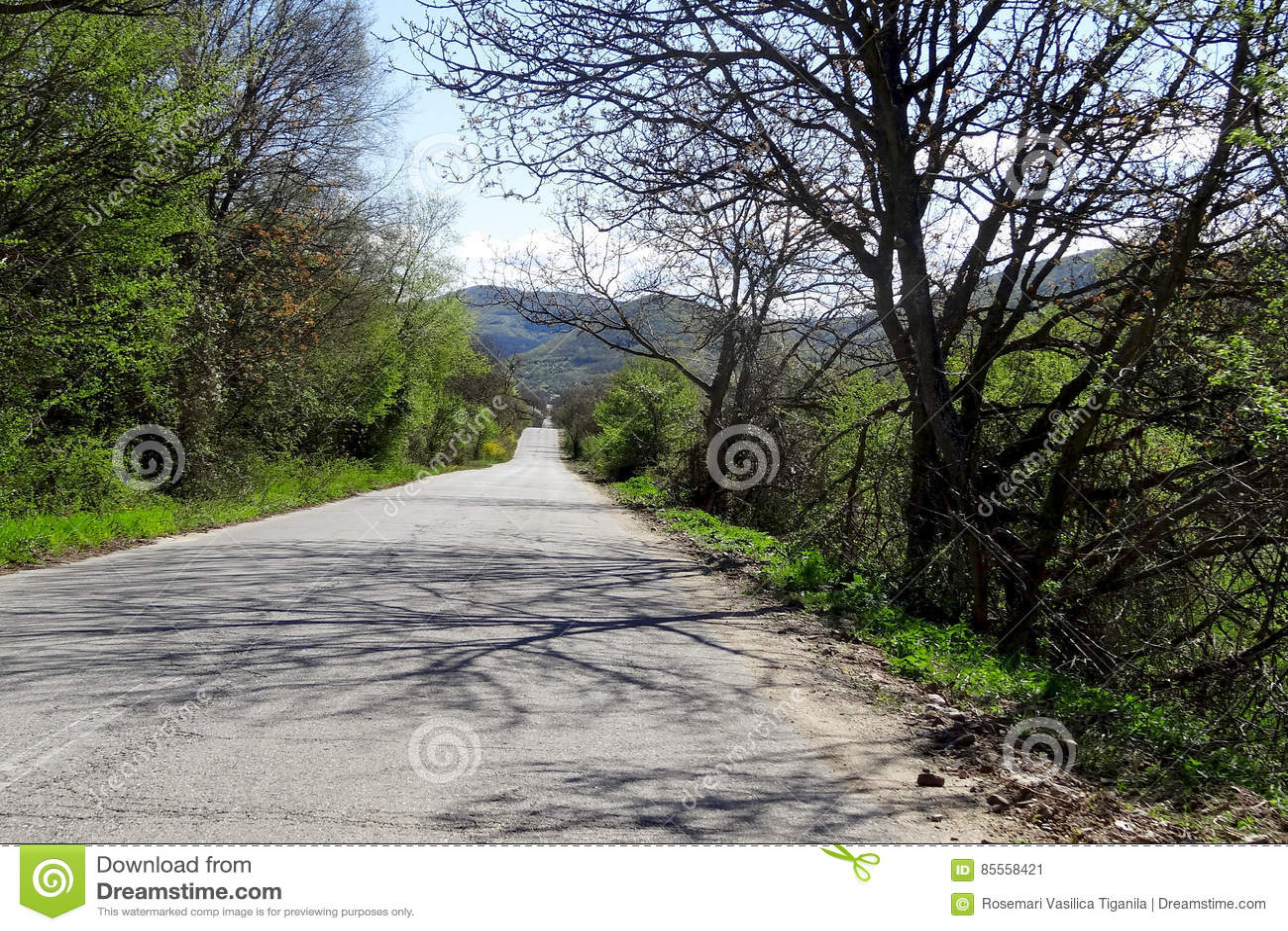 Asphaltstraße in der Berglandschaft