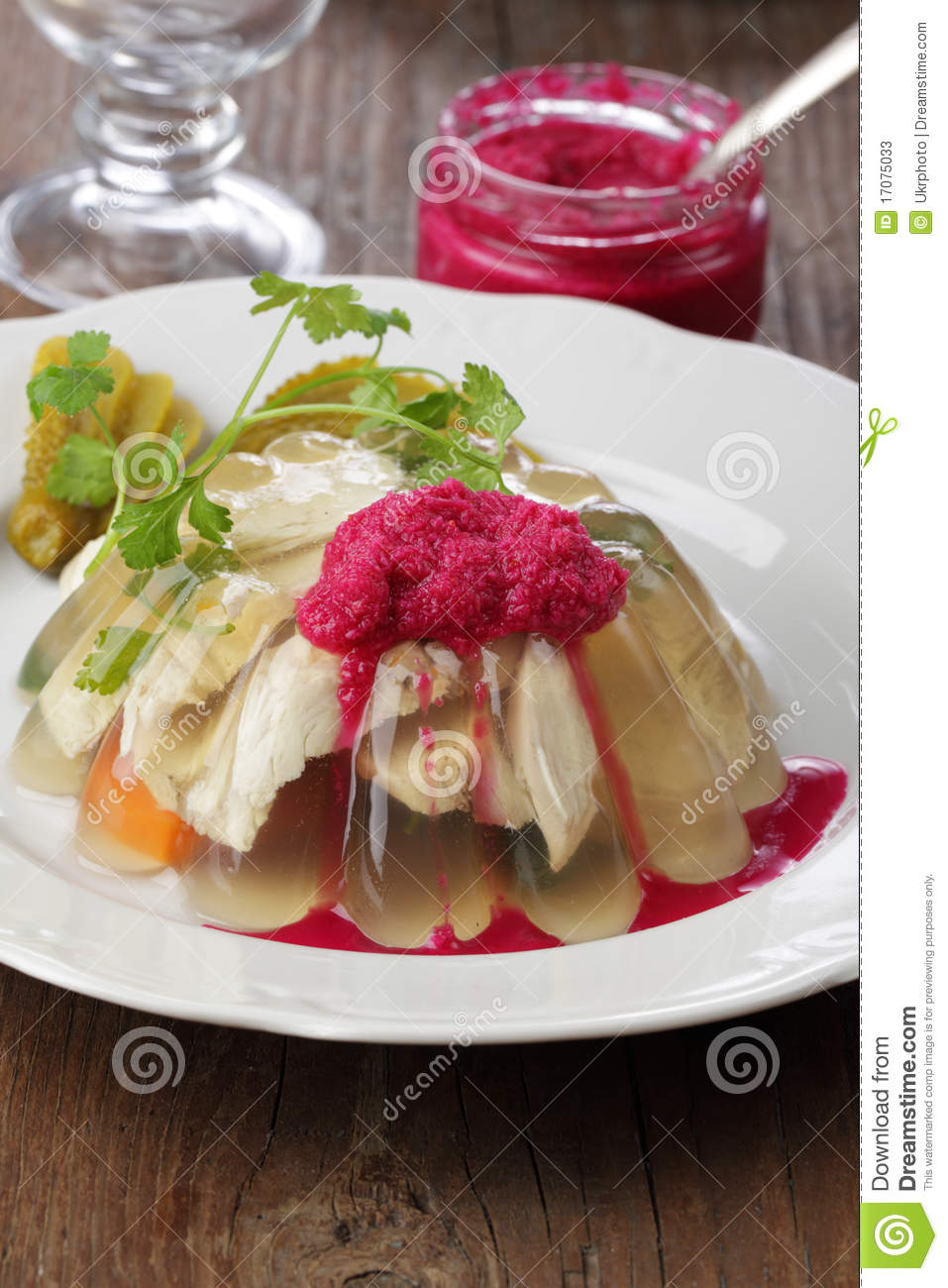 Download Aspic stock image. Image of dinner, jelly, fork, meat - 17075033