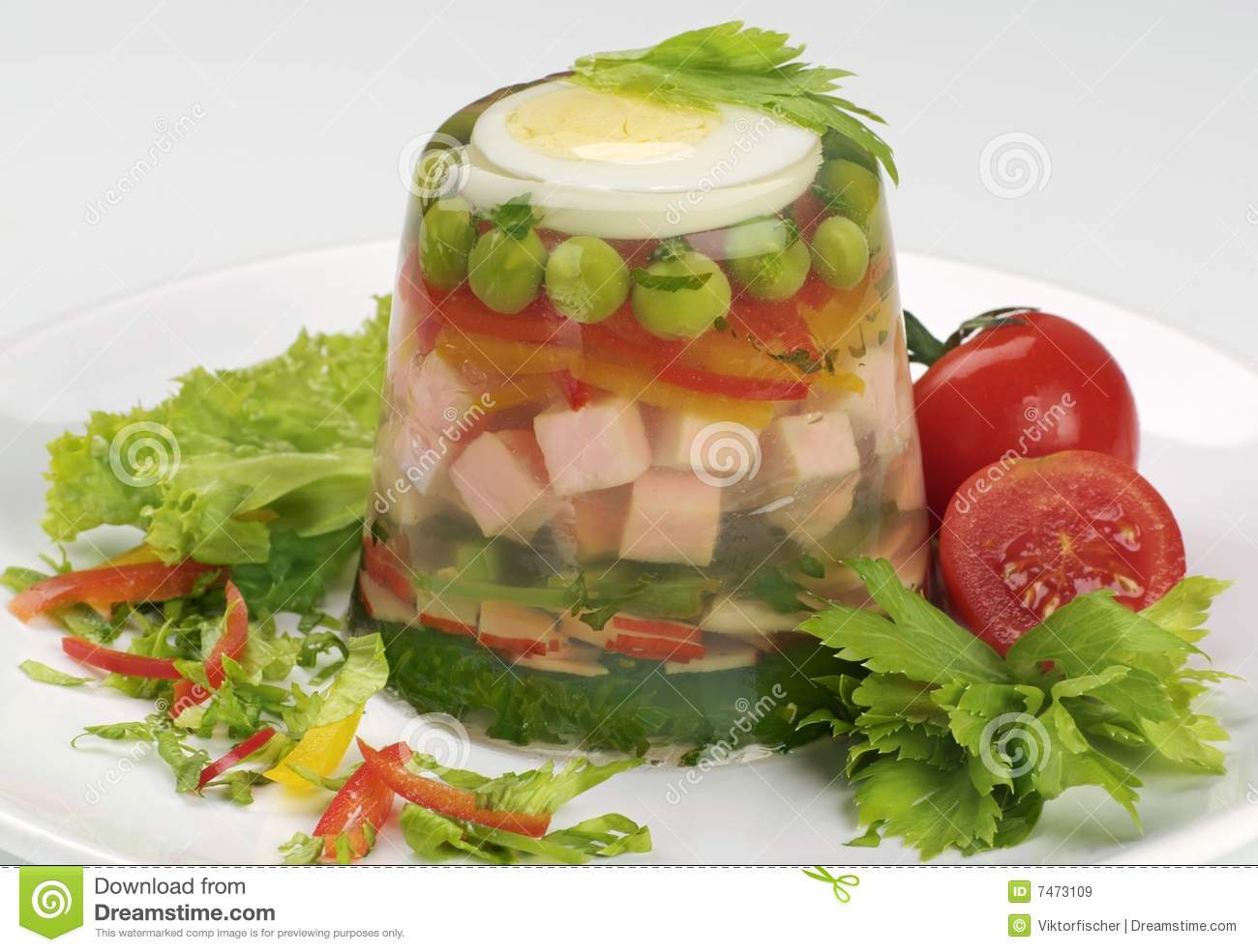 Aspic stock image  Image of buffet, light, cold, healthy