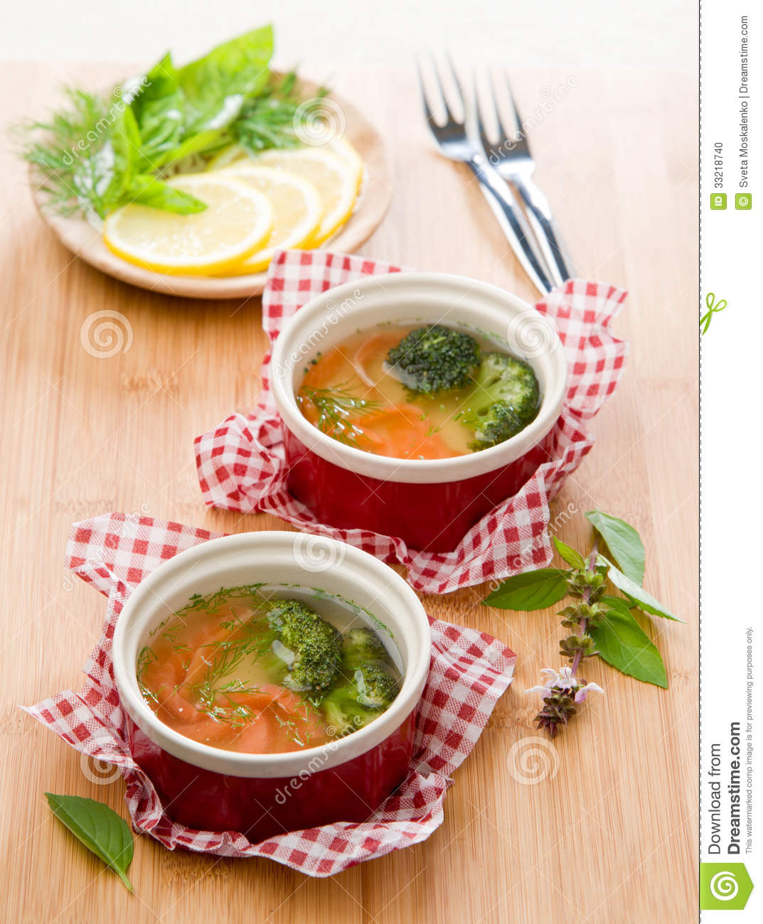Aspic From Salmon With Cauliflower And Fennel Stock Photo