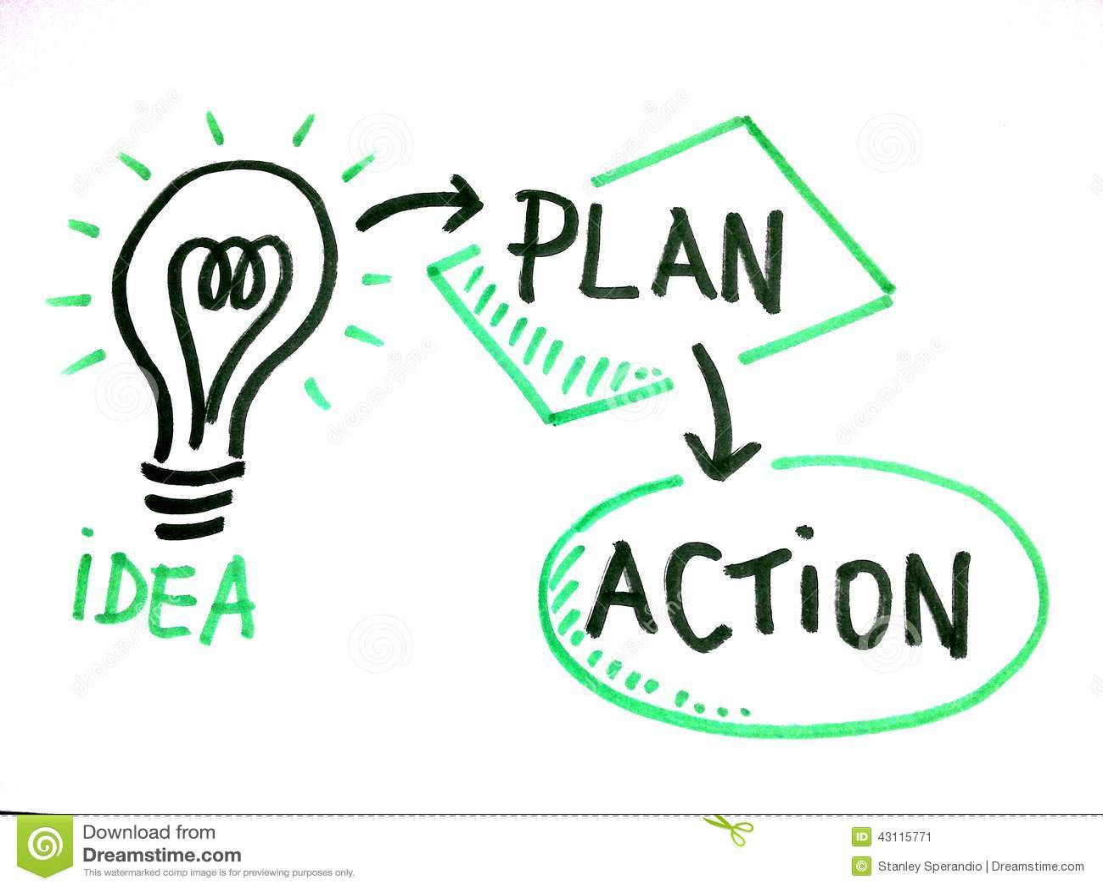 Aspiration D'idée, De Plan Et D'action Image stock   Image du