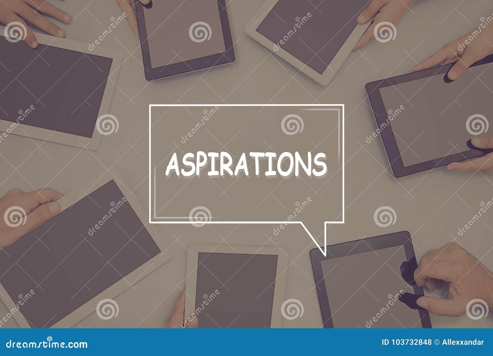 ASPIRATIONS CONCEPT Business Concept.