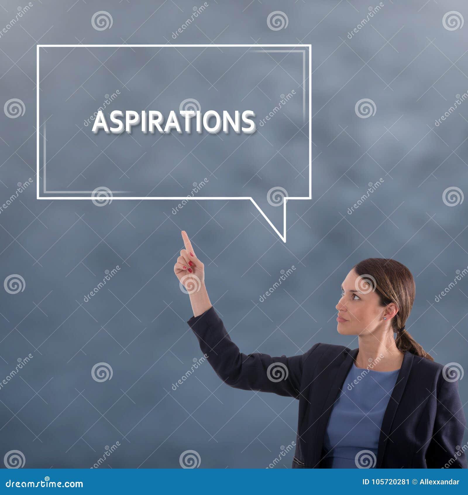 ASPIRATIONS CONCEPT Business Concept. Business Woman