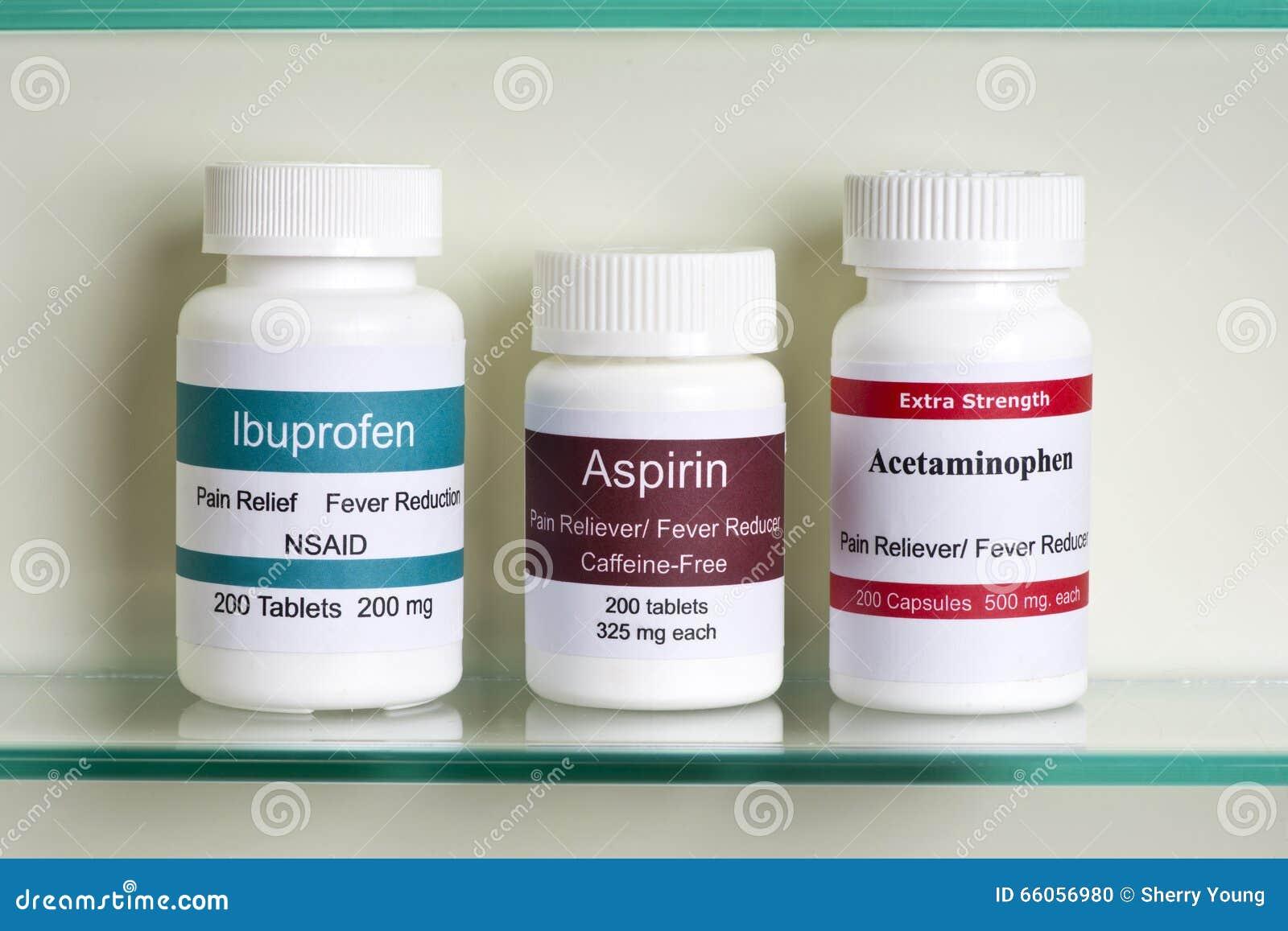 aspirin ibuprofen and tylenol
