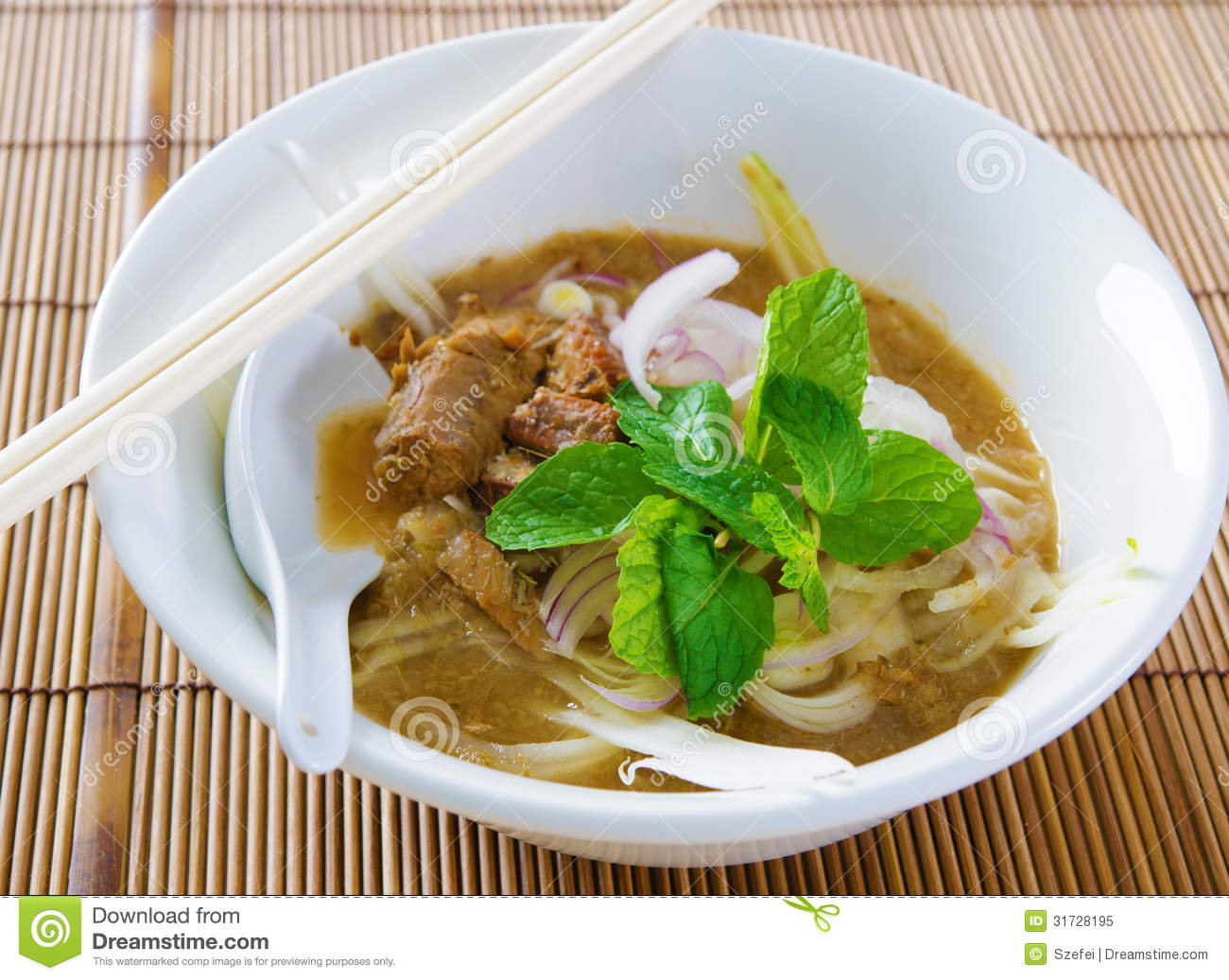 Assam or asam laksa royalty free stock photo image for Authentic malaysian cuisine