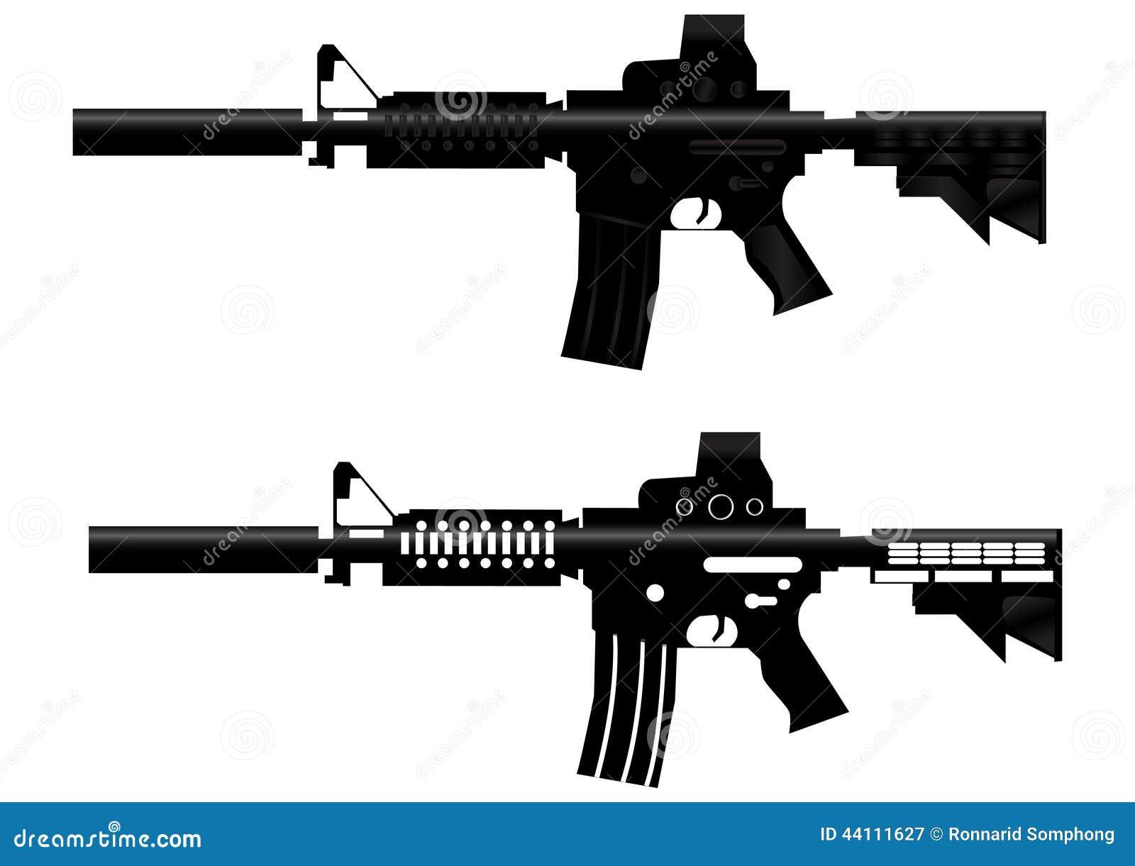 assault rifle gun vector stock vector. illustration of firearms - 44111627  dreamstime.com