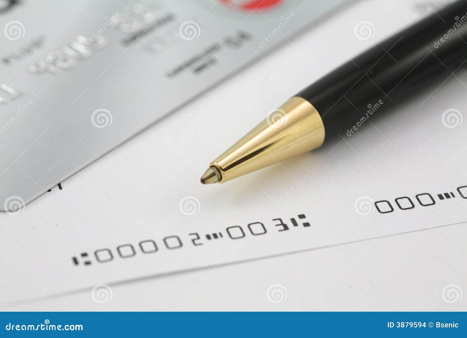 Assegni di affari con la carta di credito