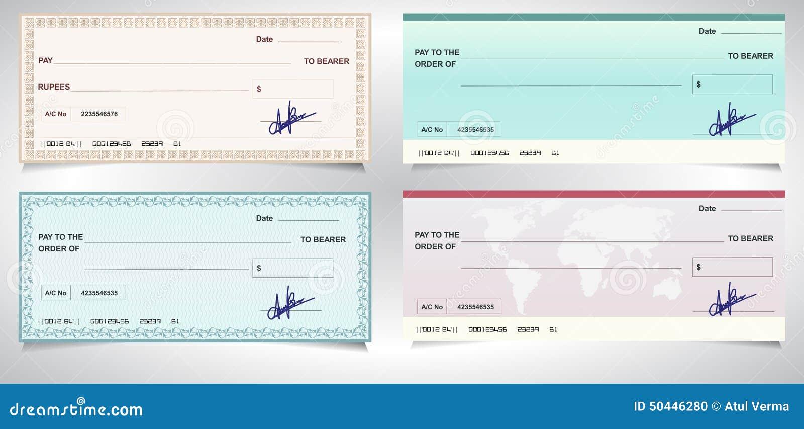 ASSEGNO BANCARIO, assegno bancario - vettore eps10