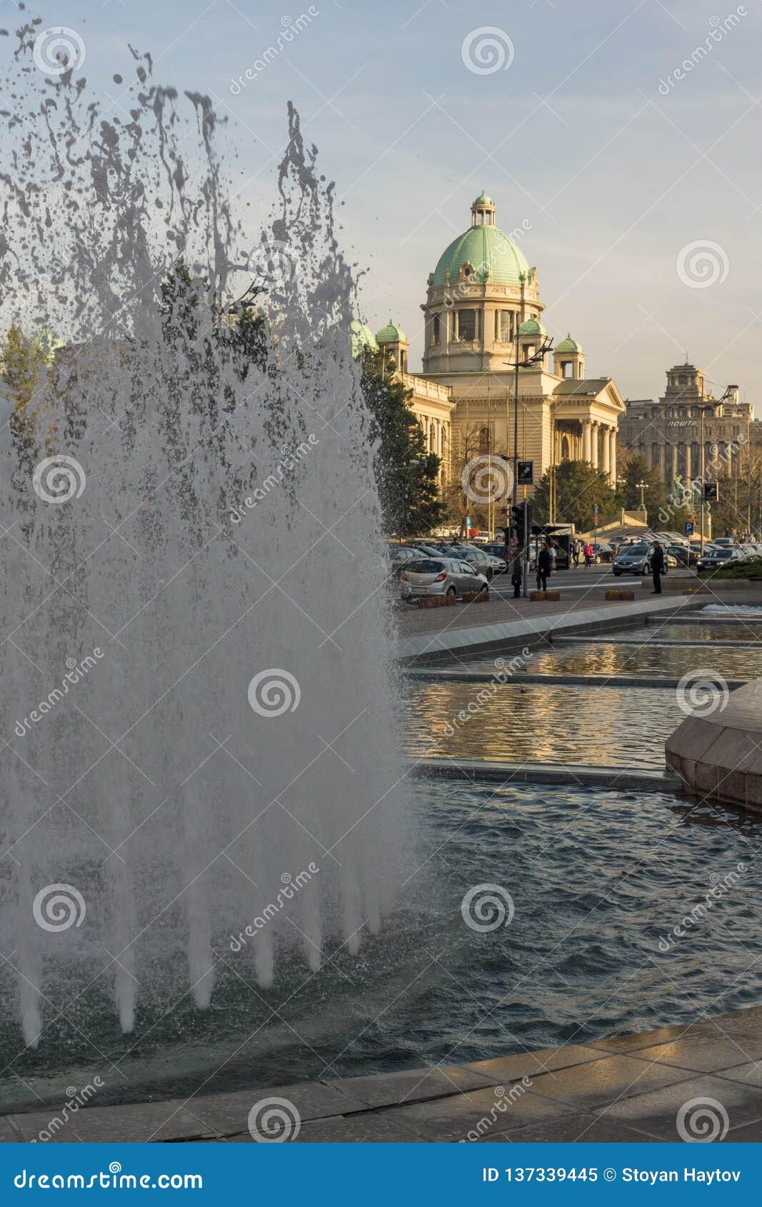 Assemblée nationale de la République au centre de la ville de Belgrade, Serbie