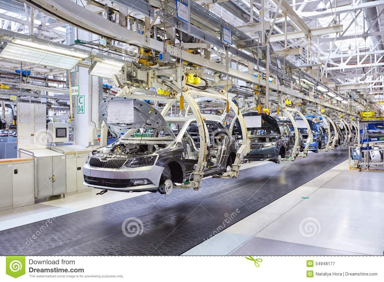 Assembling Cars On Conveyor Line Editorial Photography