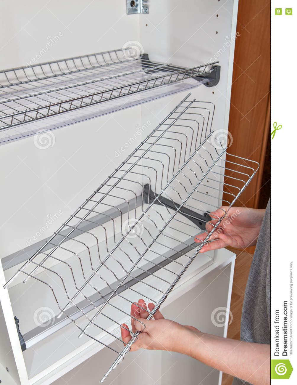 Assembly Wire Dish Rack For Drying Dishes Inside Kitchen Cabinet With A Dryer Schematic Wiring 4 Wires