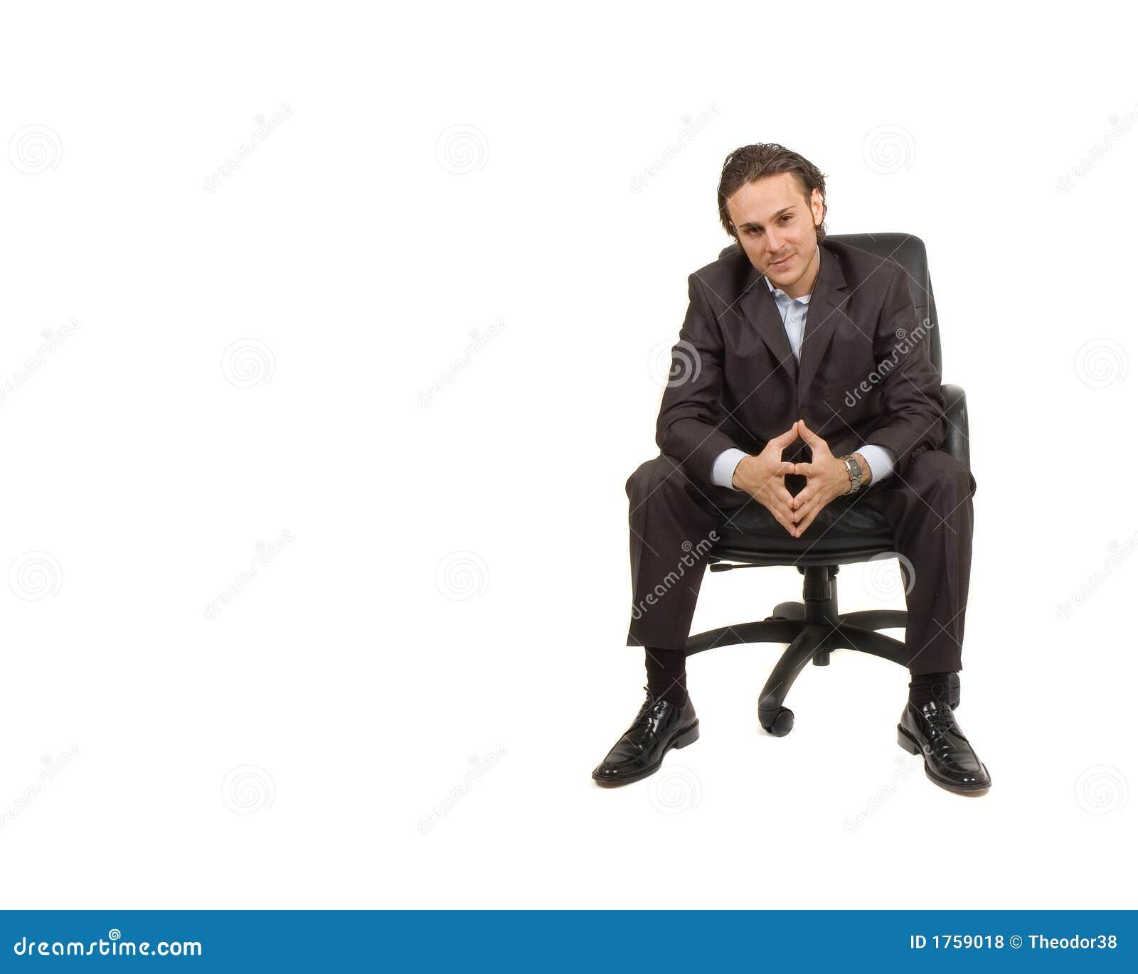 Assento do homem de negócios