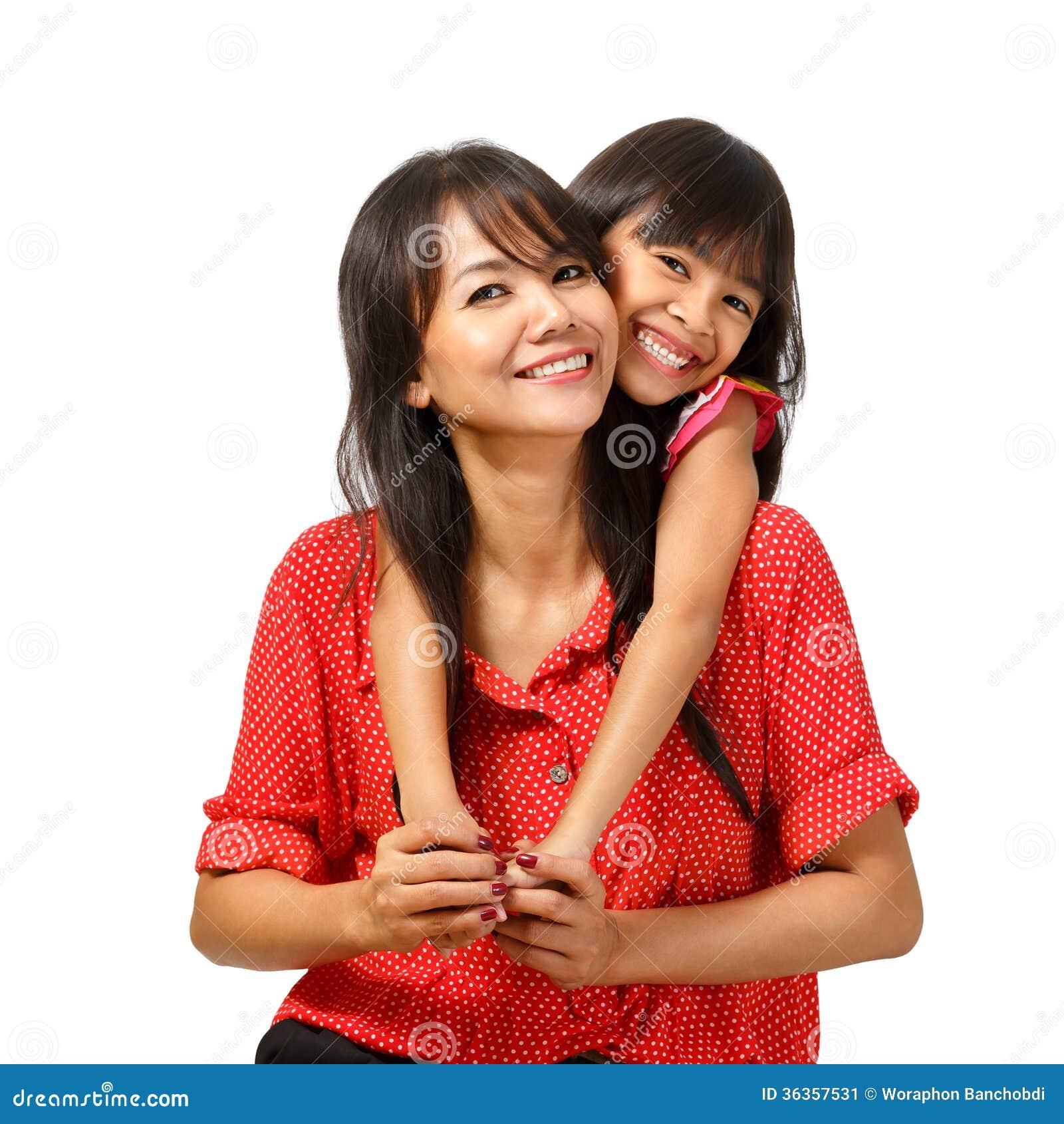 Assento feliz da mãe e da filha