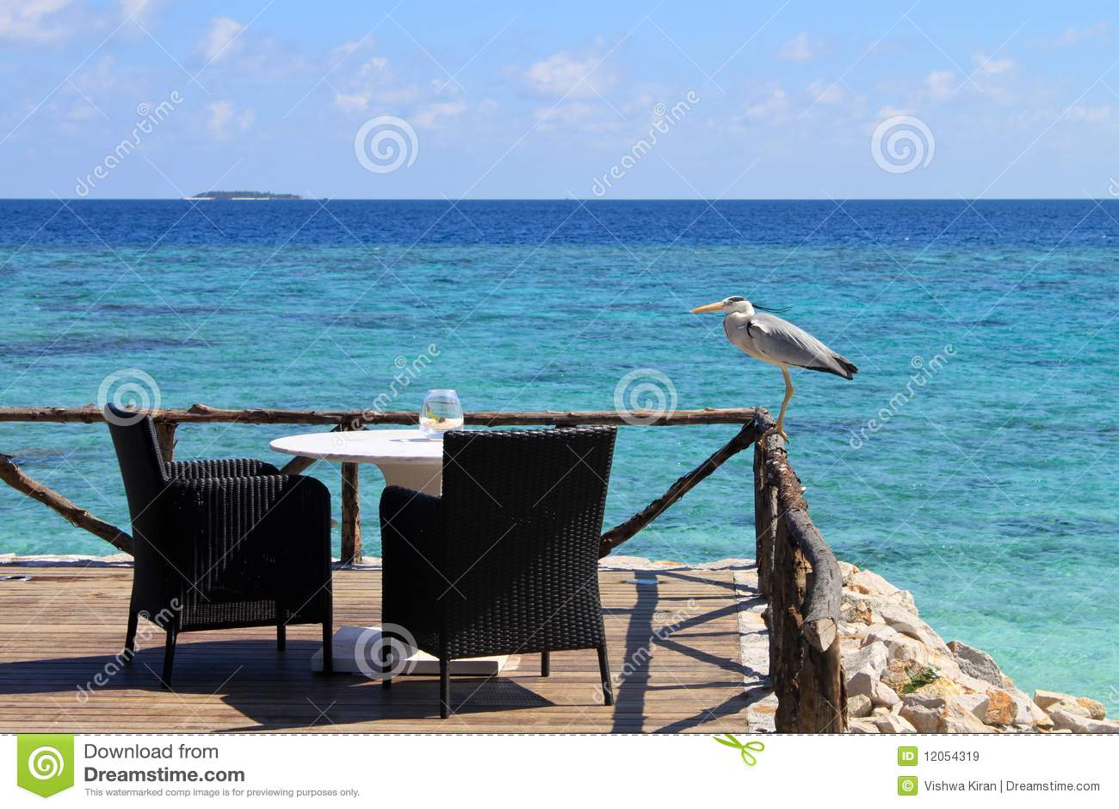 Assentos por uma opinião de oceano