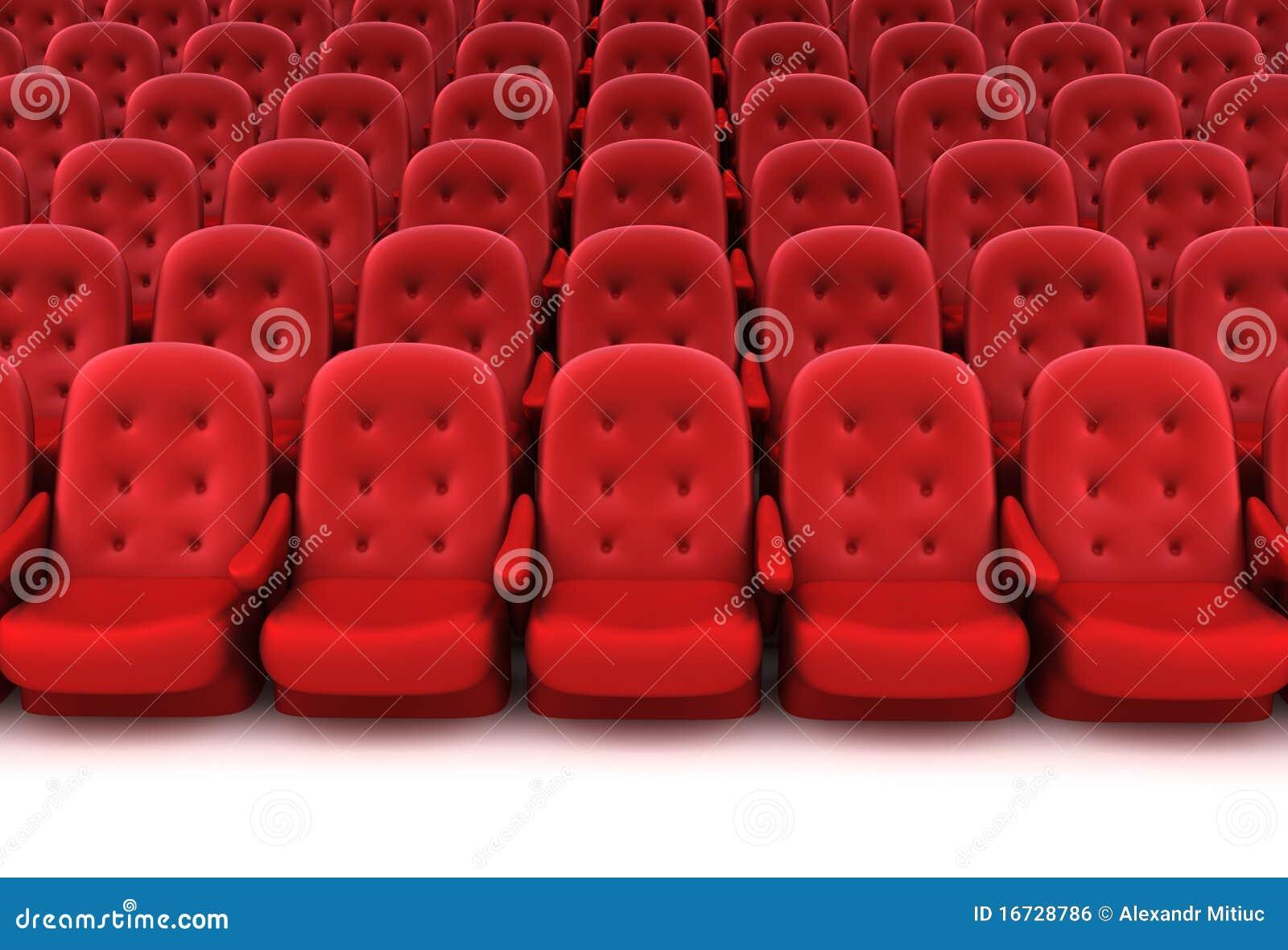 Assentos vermelhos do teatro