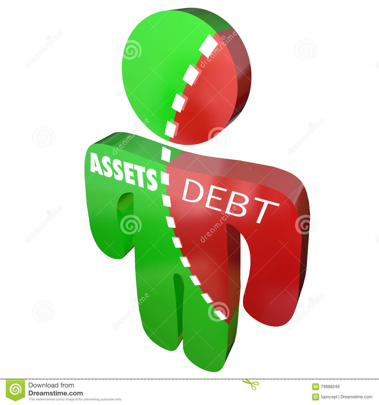 Assets Vs Debt Money Owed Obligation Split Finances