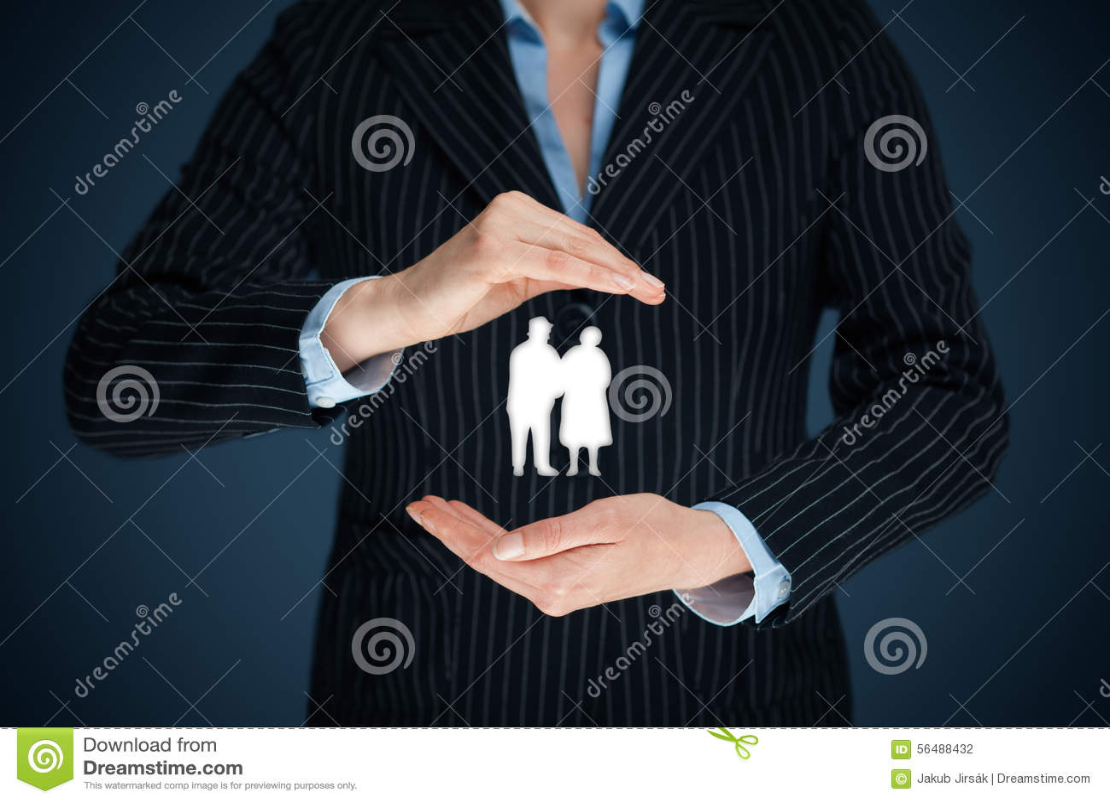 Assicurazione ed anziani di pensione