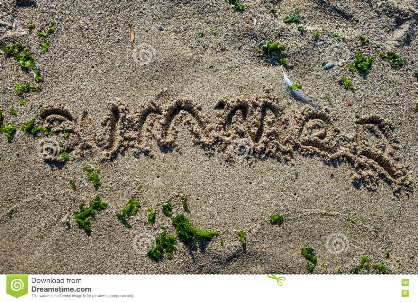 Assine dentro a areia