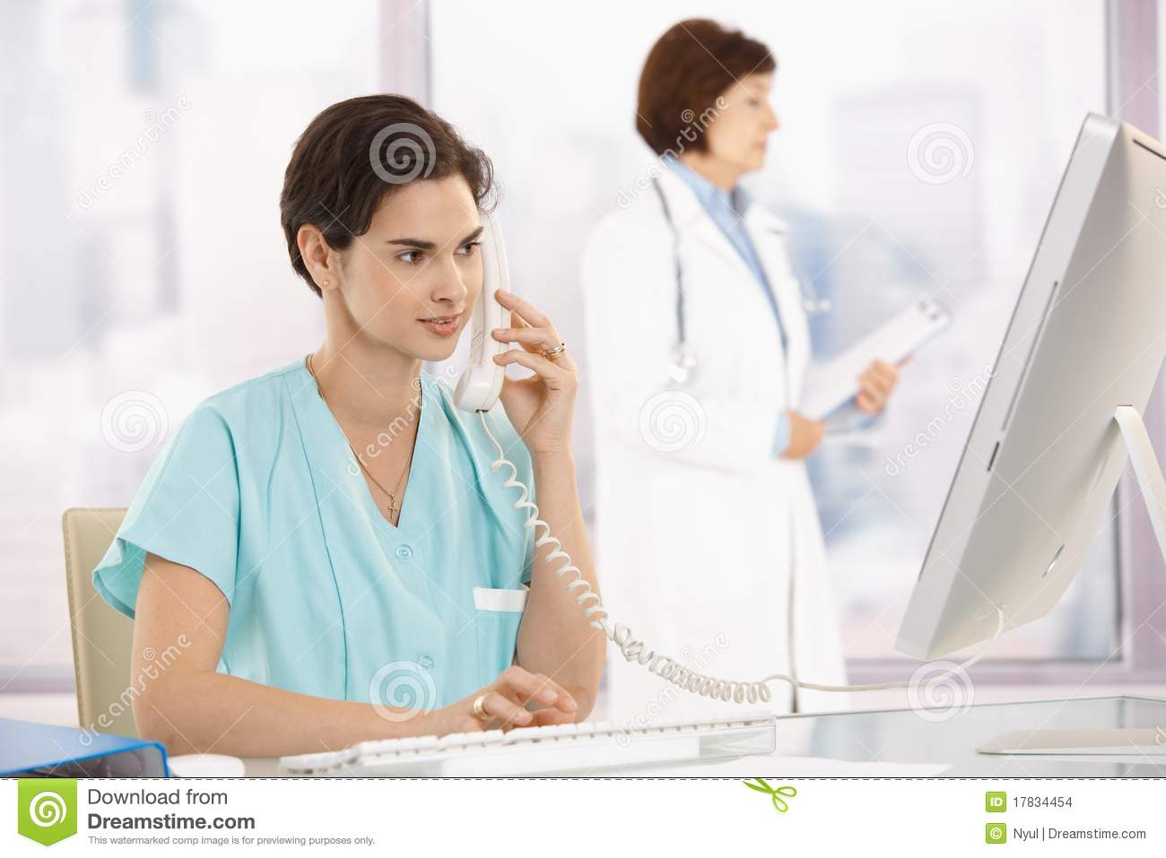 Assistant computer medical phone using