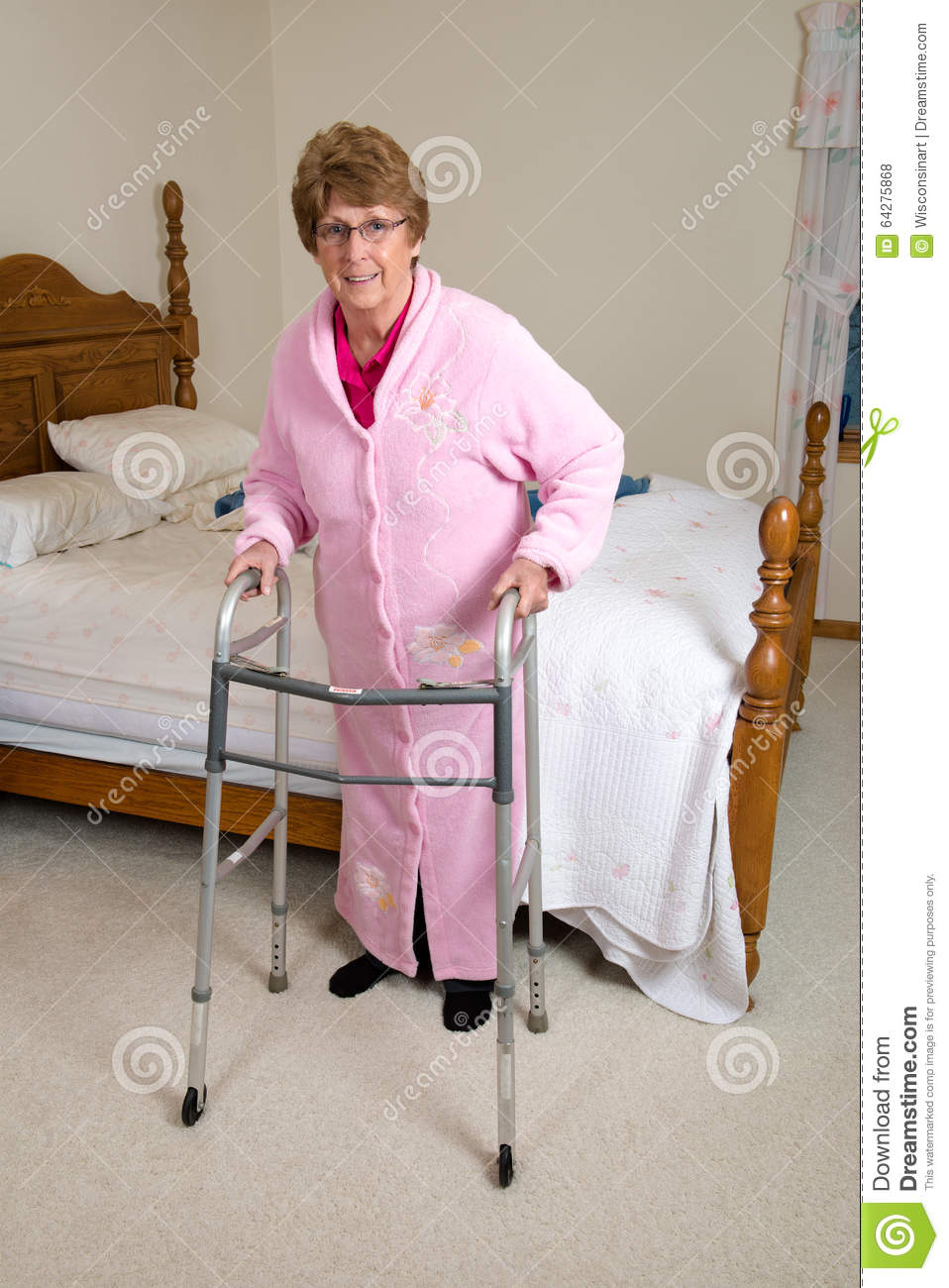 Assisted Living Nursing Home Elderly Woman Stock Photo