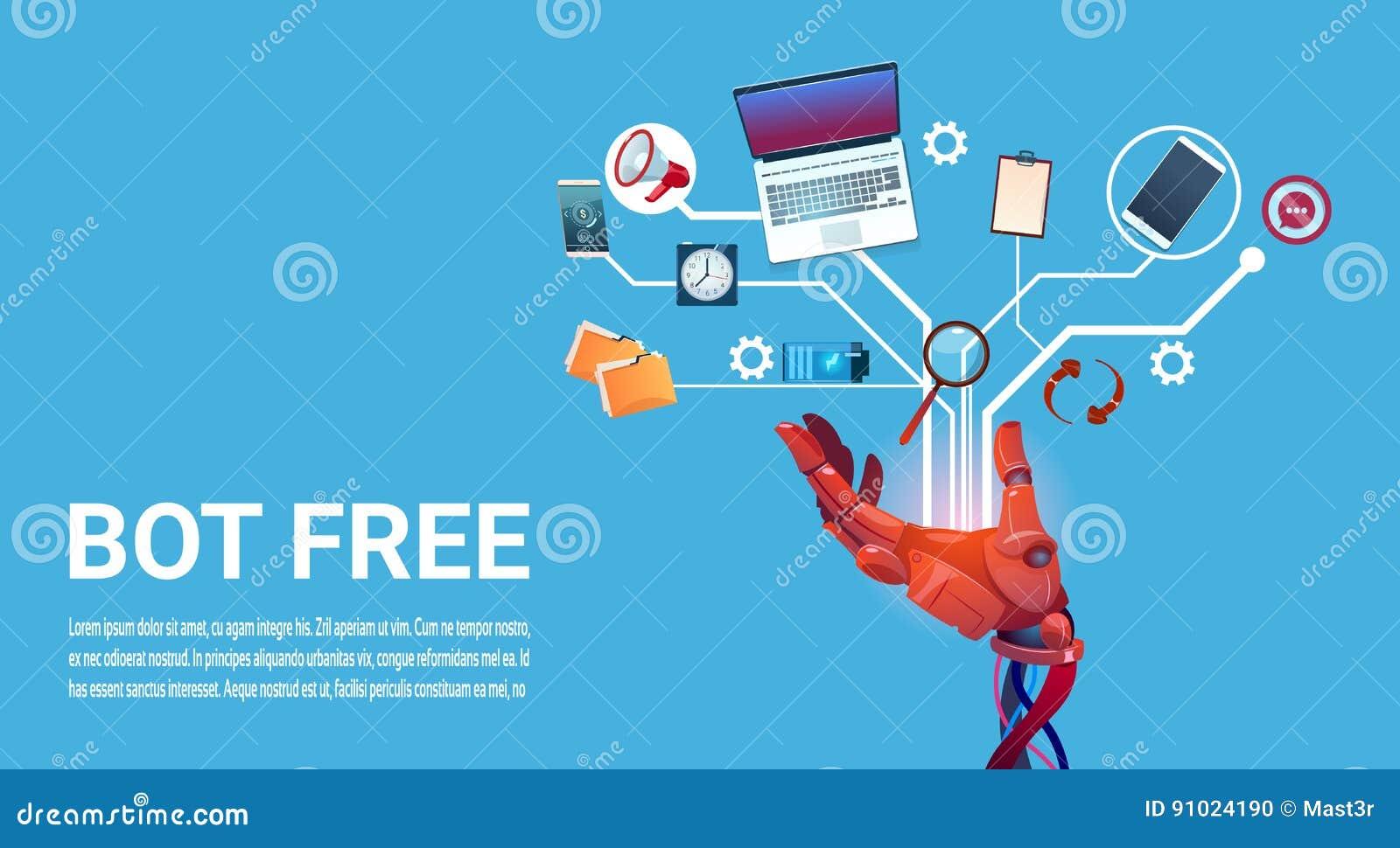 Assistenza virtuale del robot libero del Bot di chiacchierata delle applicazioni del cellulare o del sito Web, concetto di intell