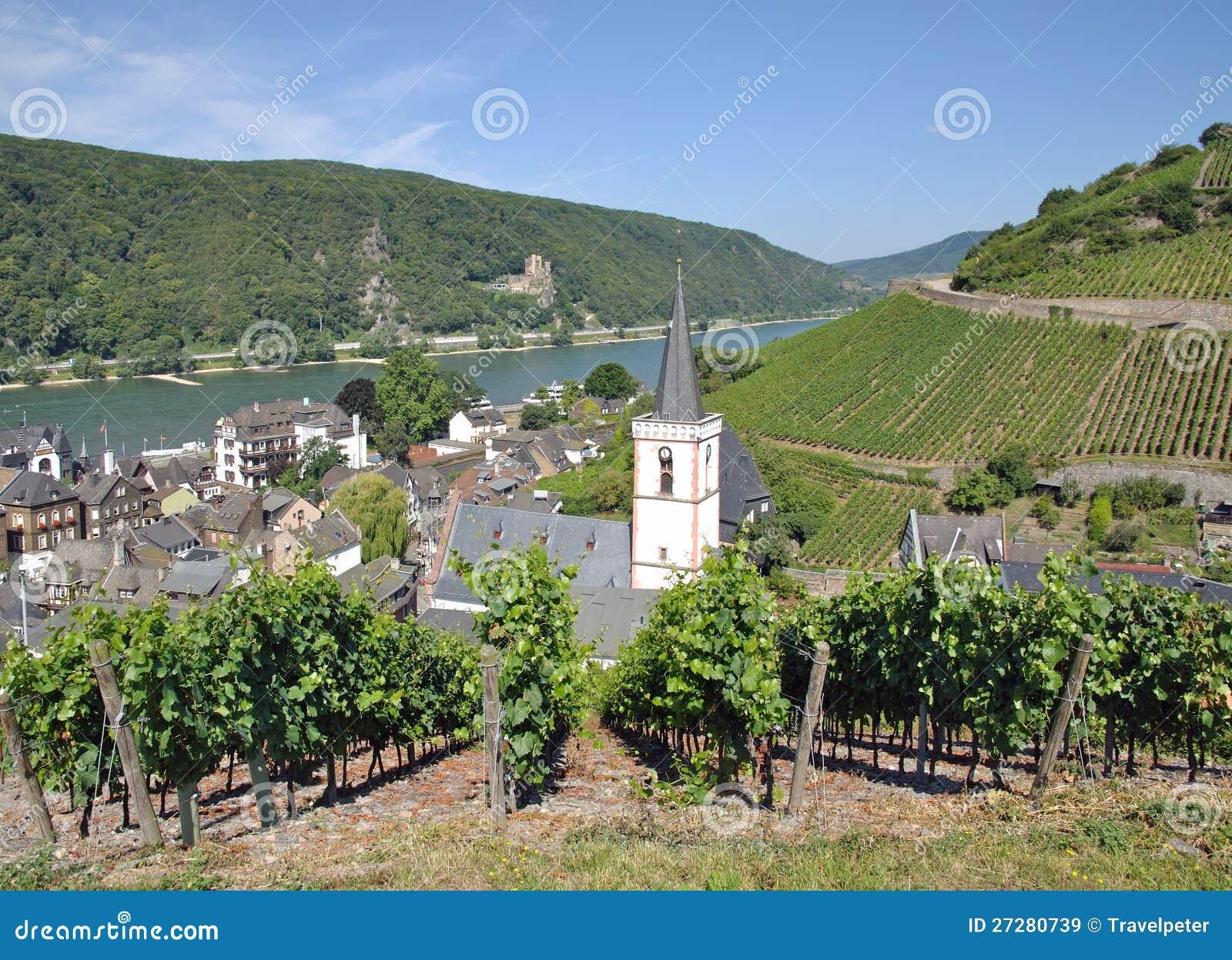 Assmannshausen Rhine flod, Tyskland