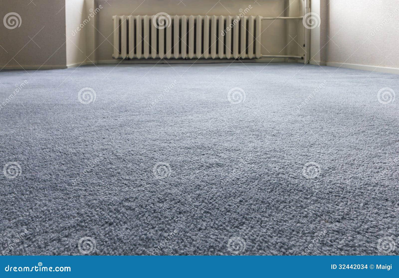 Assoalho de tapete azul
