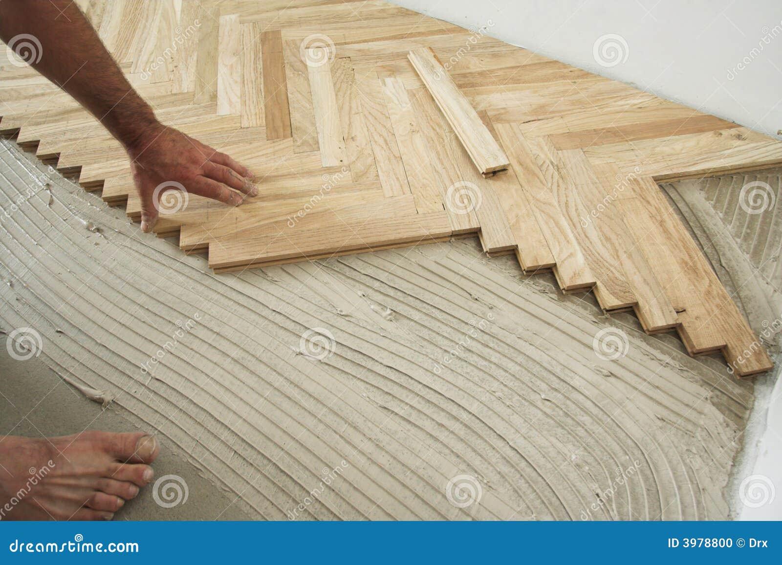 Assoalho e carpinteiro de parquet