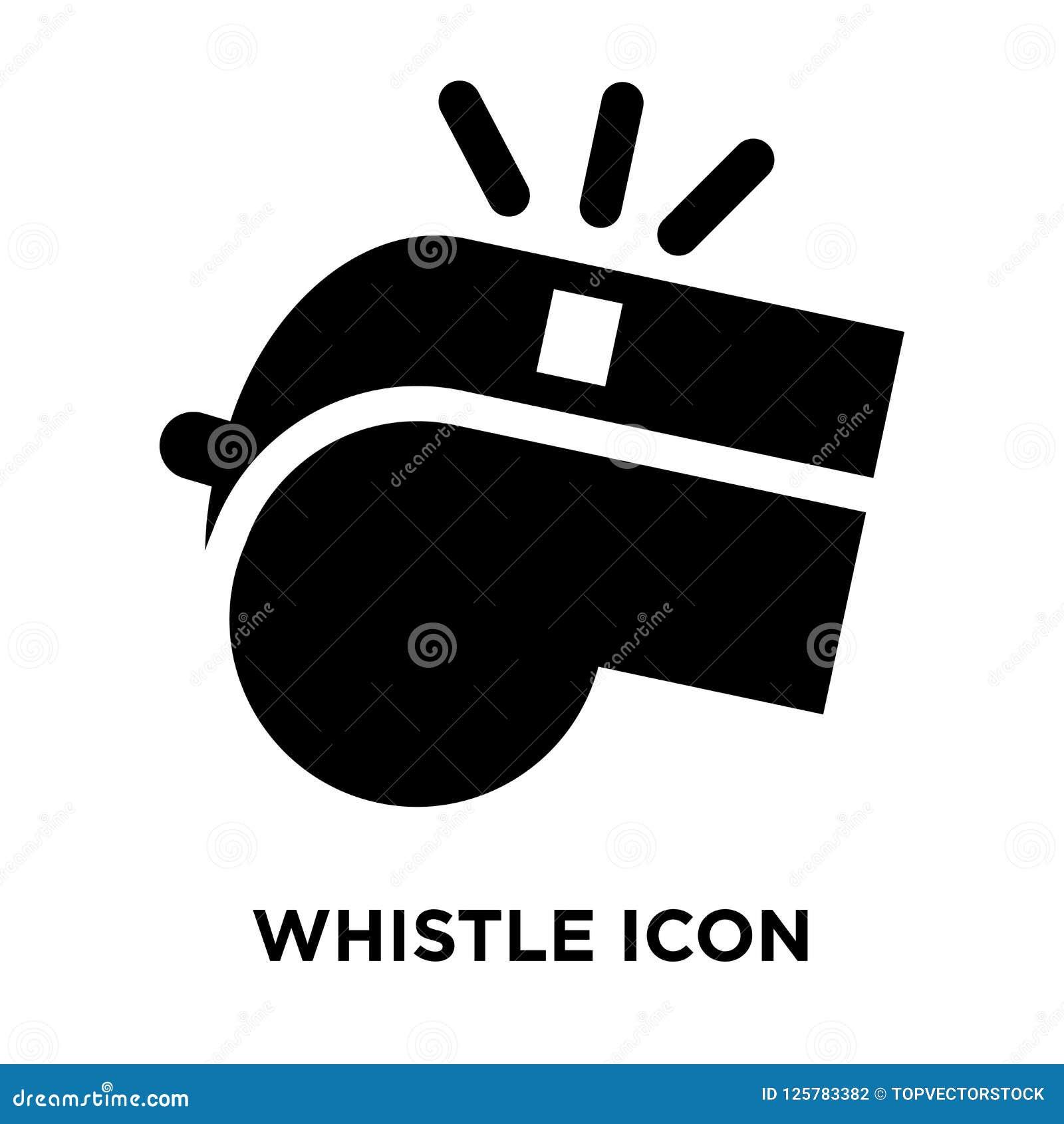 Assobie o vetor do ícone isolado no fundo branco, conceito o do logotipo