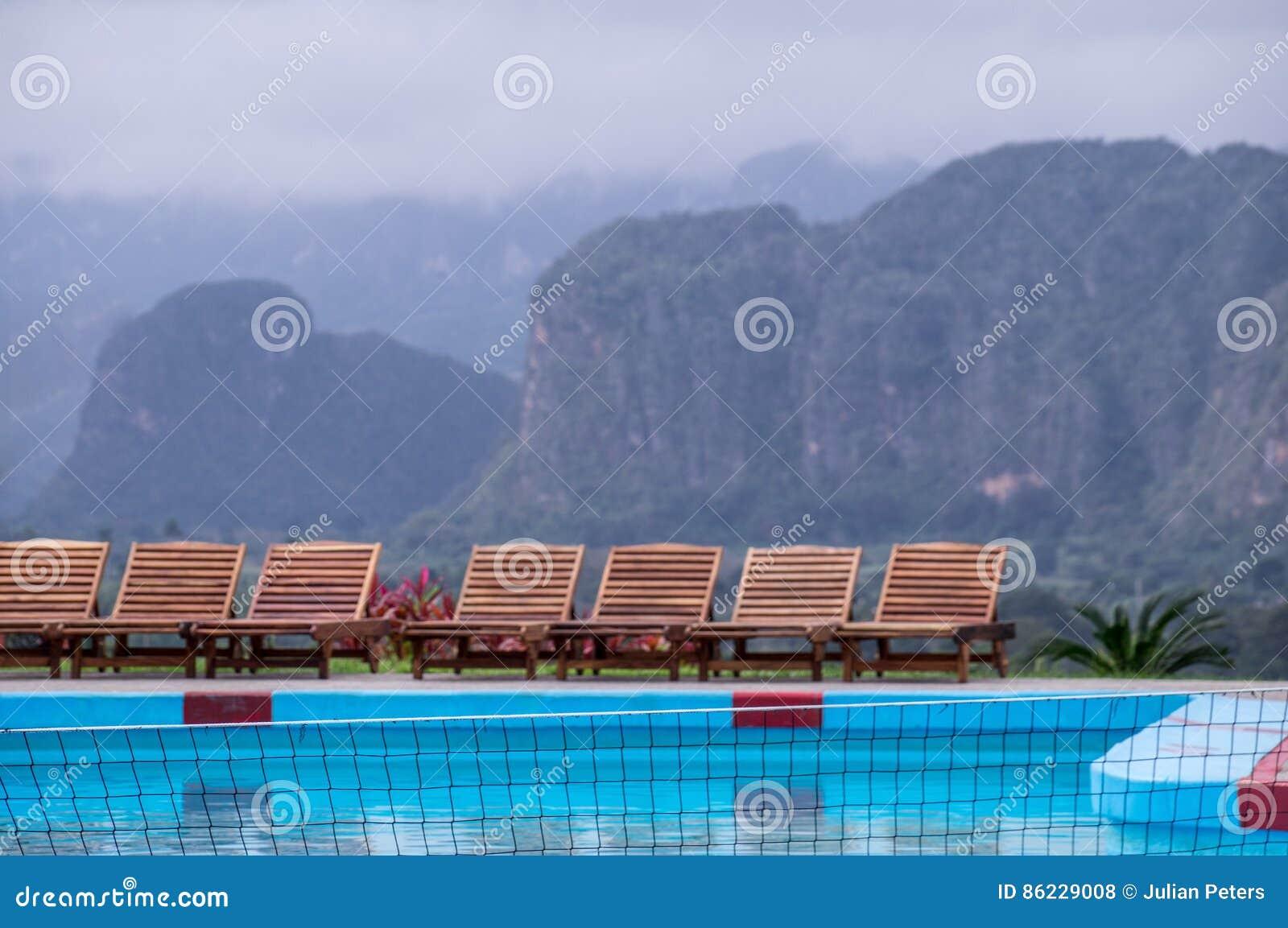 Associação no recurso do hotel em Vinales, Cuba