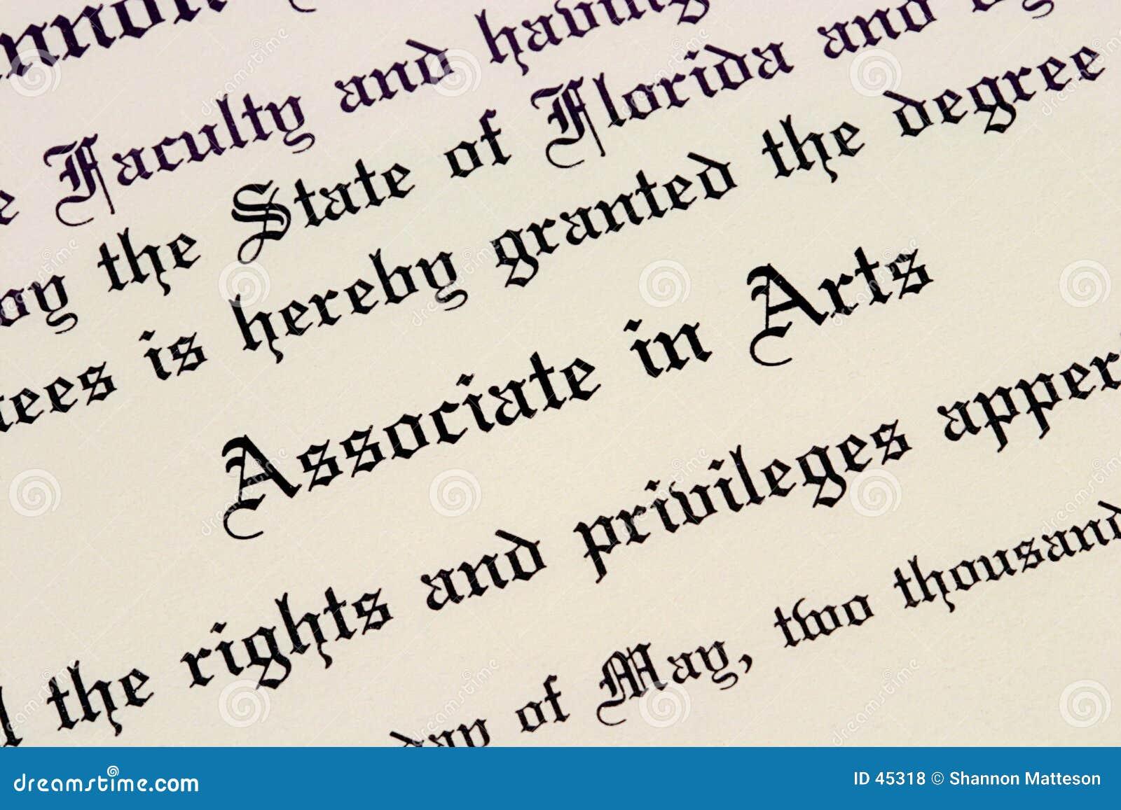 Download An Associate's Degree stock photo. Image of macro, graduation - 45318
