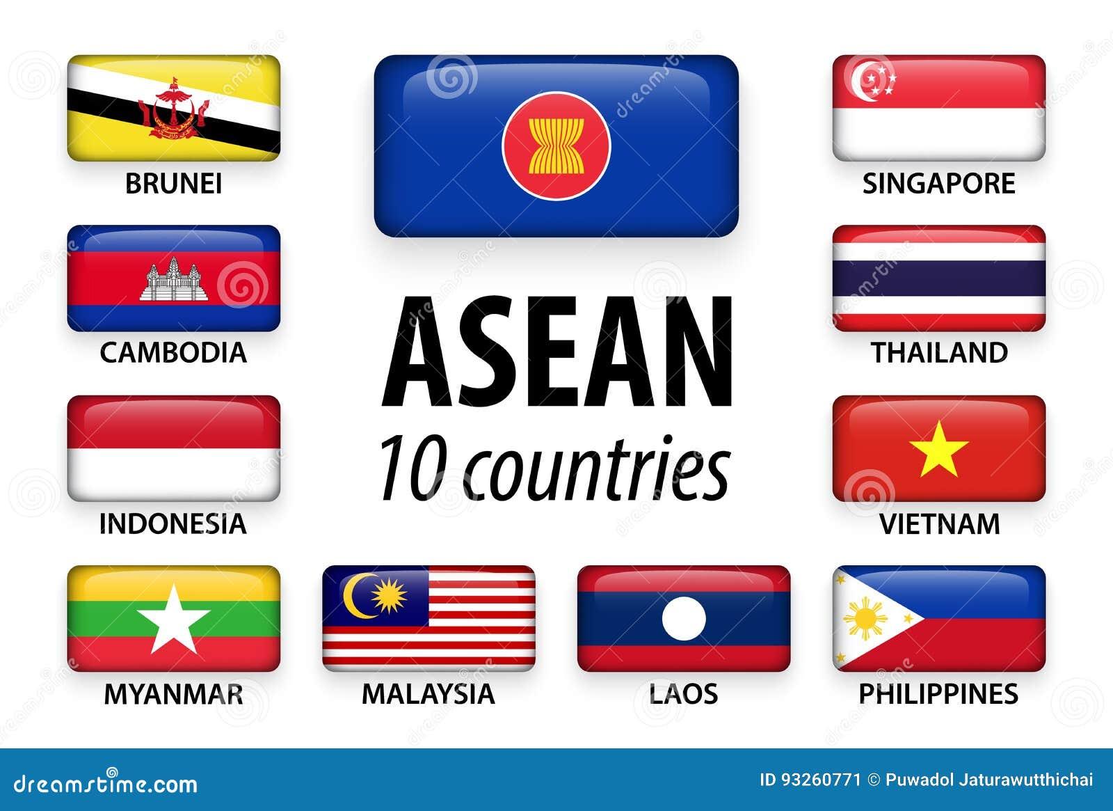 Associazione di ASEAN delle nazioni e dell appartenenza asiatiche sudorientali