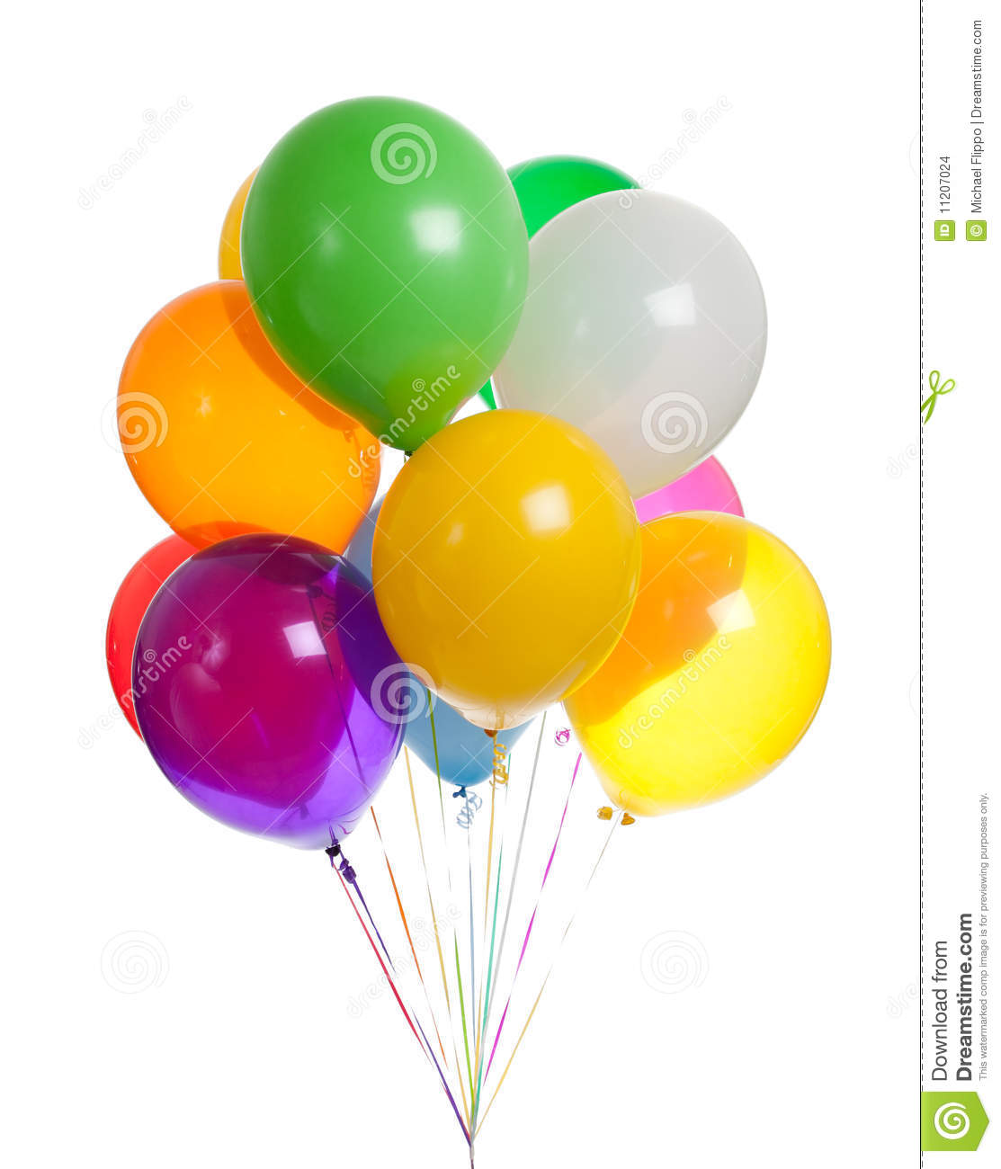 Assorted Balloons On A White Background Stock Images ...